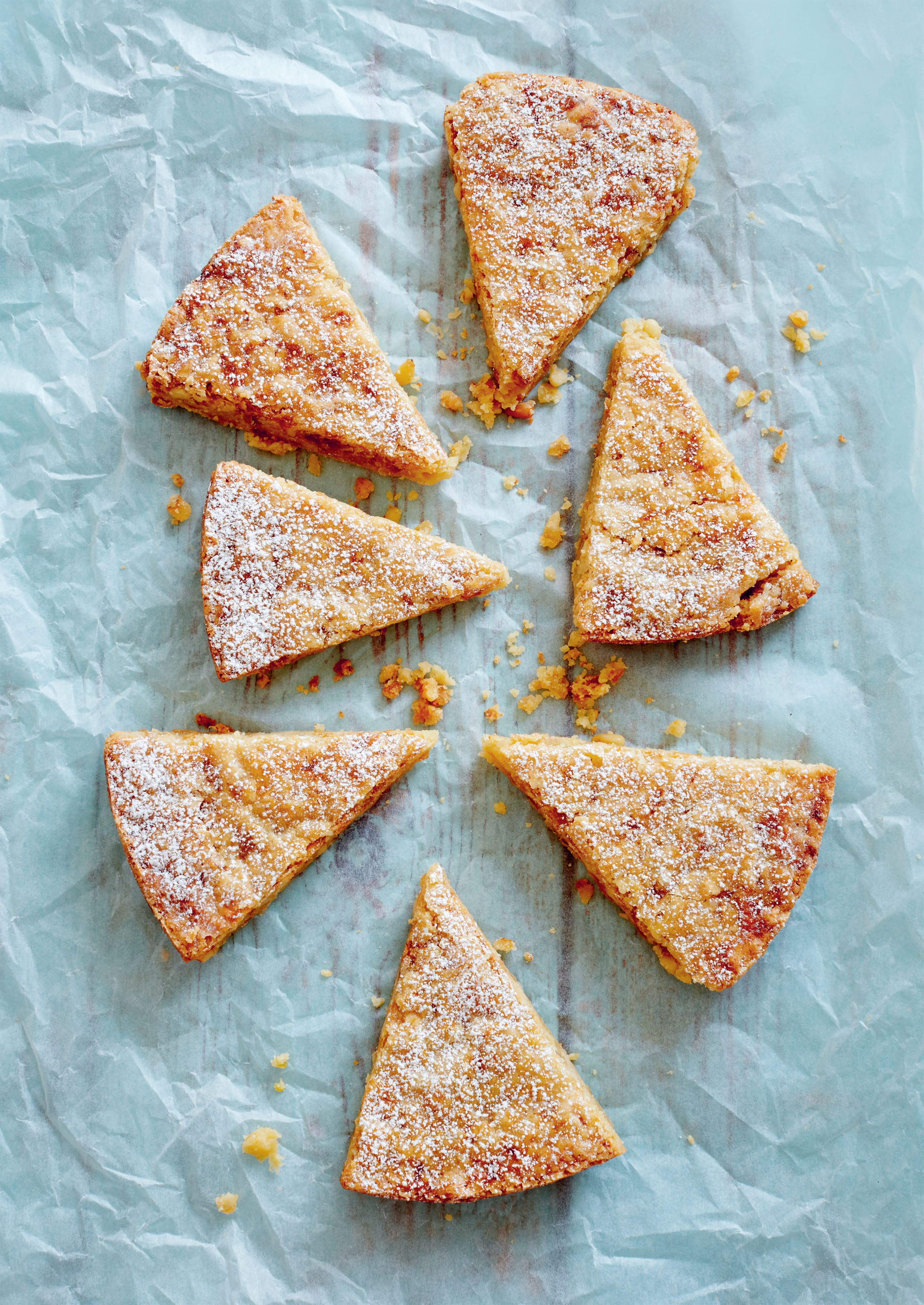 Orange and ginger butter shortbread
