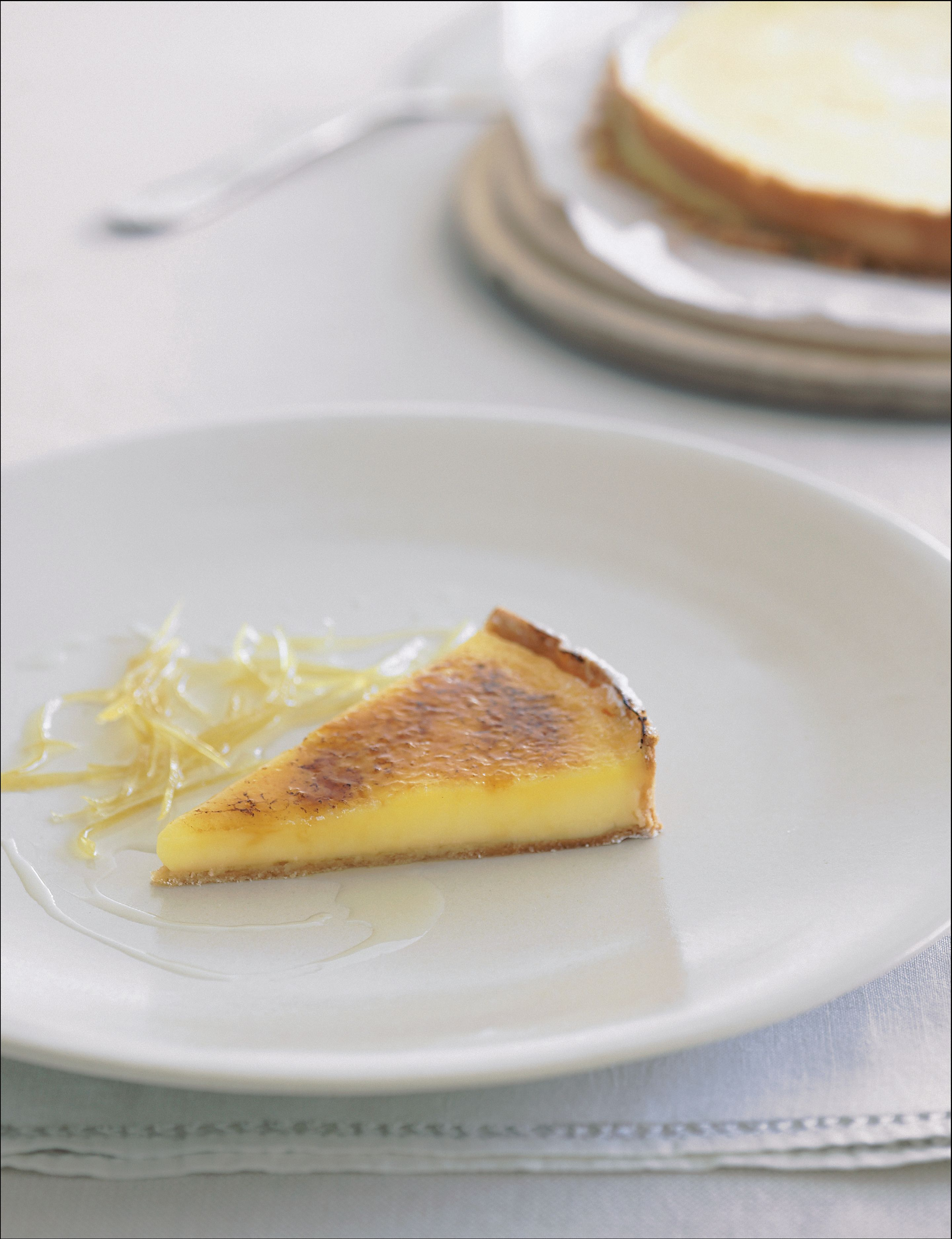 Caramelised citrus curd tart