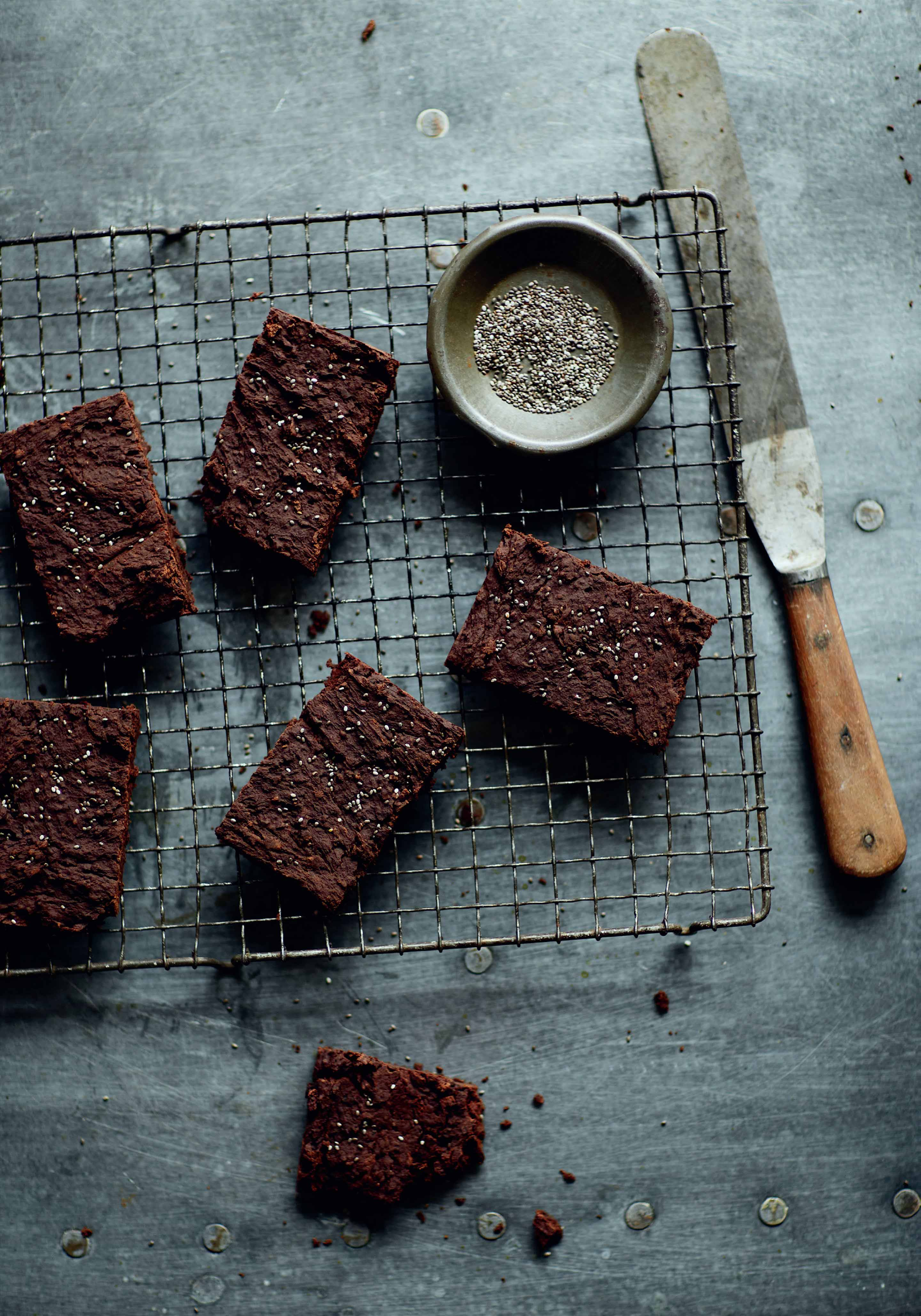 Black bean brownies with chia seeds