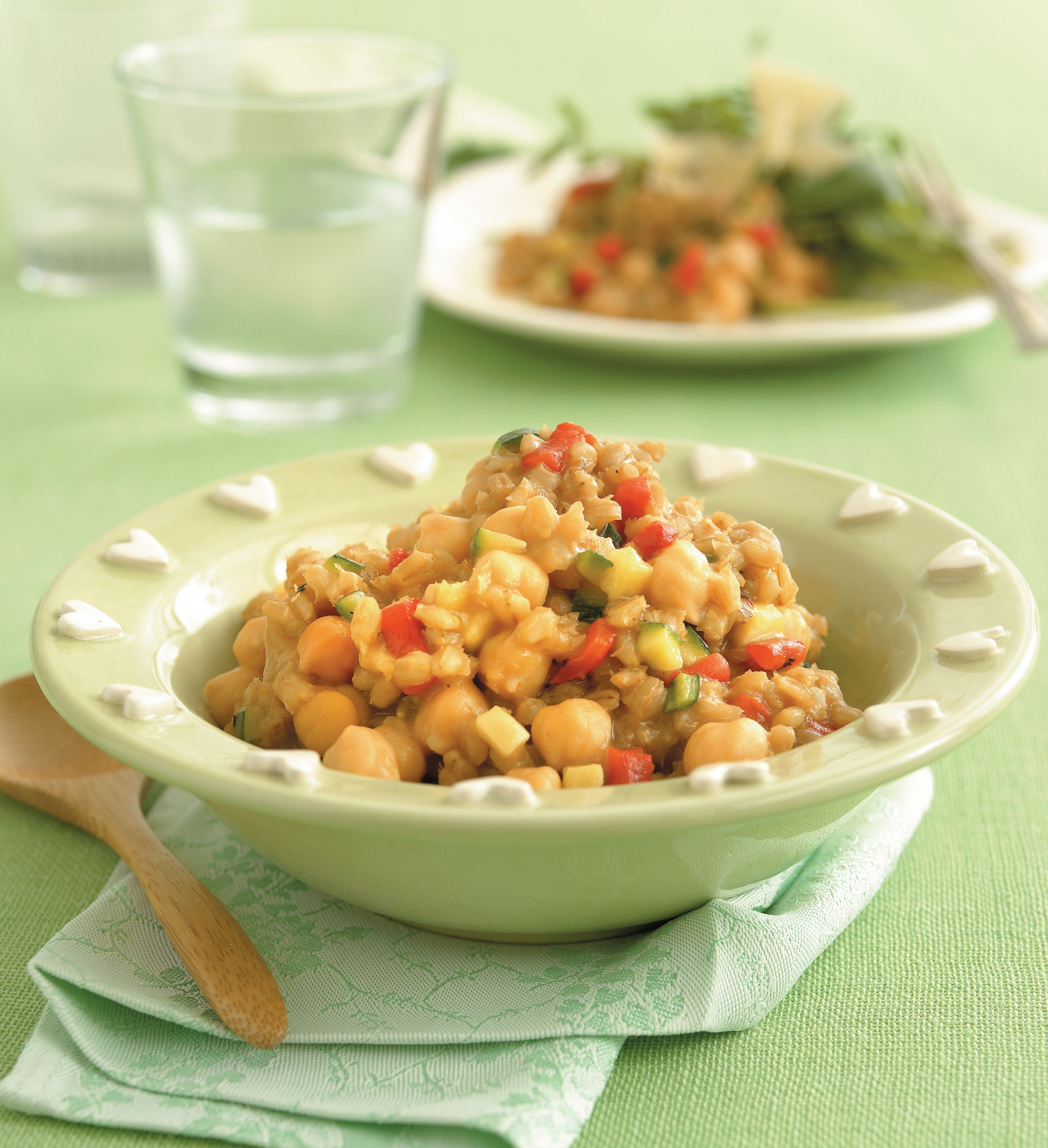 Barley risotto with chickpeas