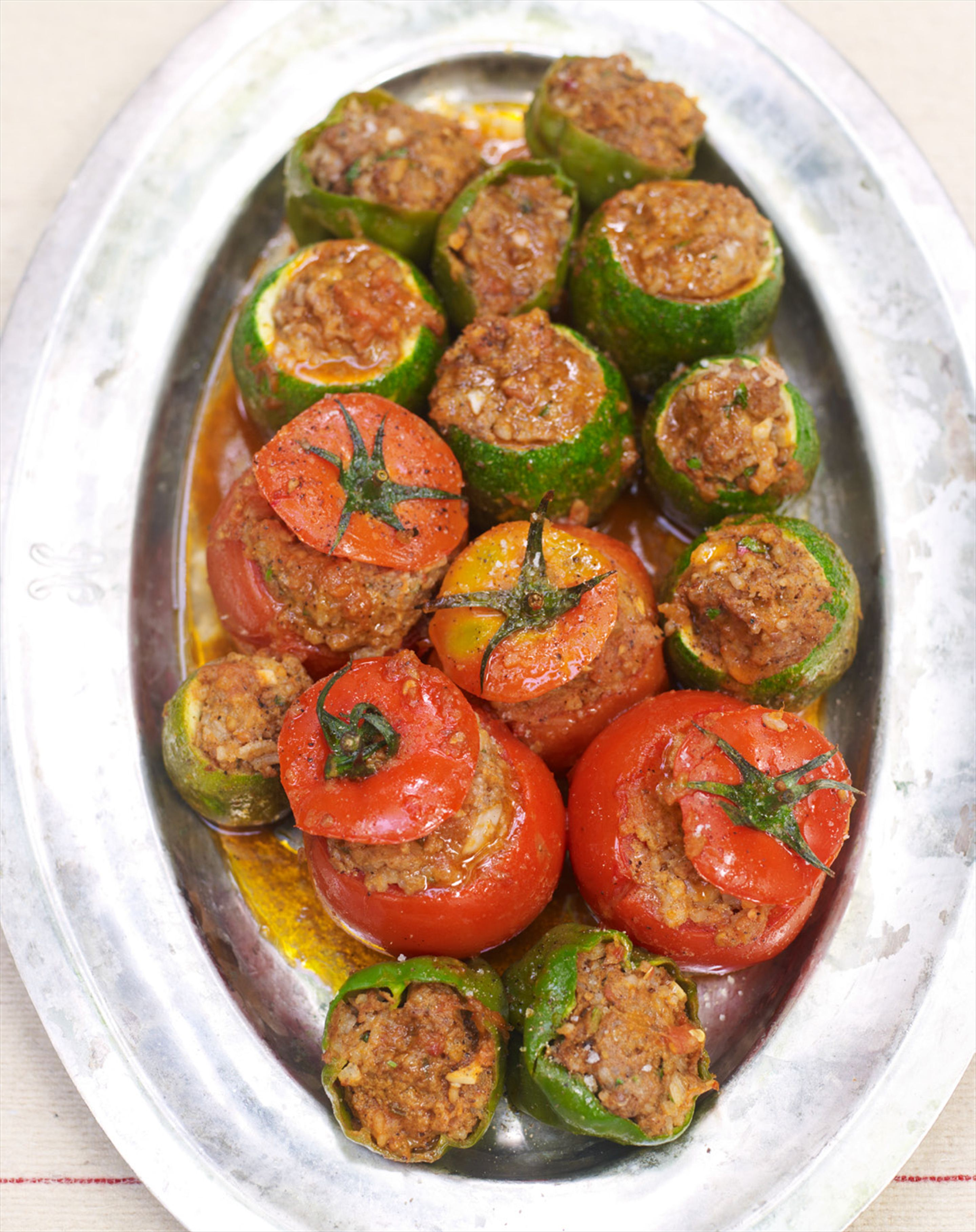 Stuffed baby vegetables