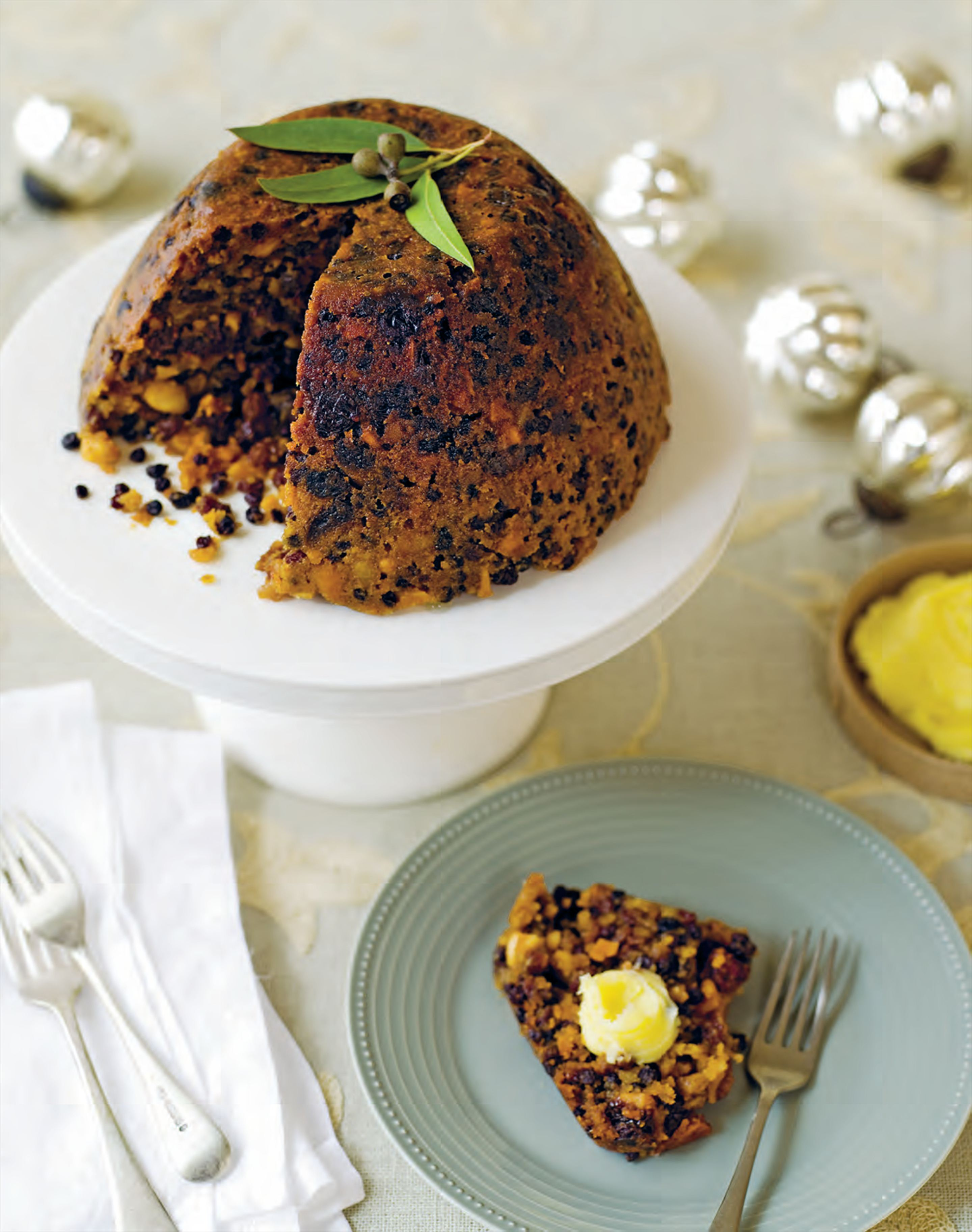 Rich Christmas pudding