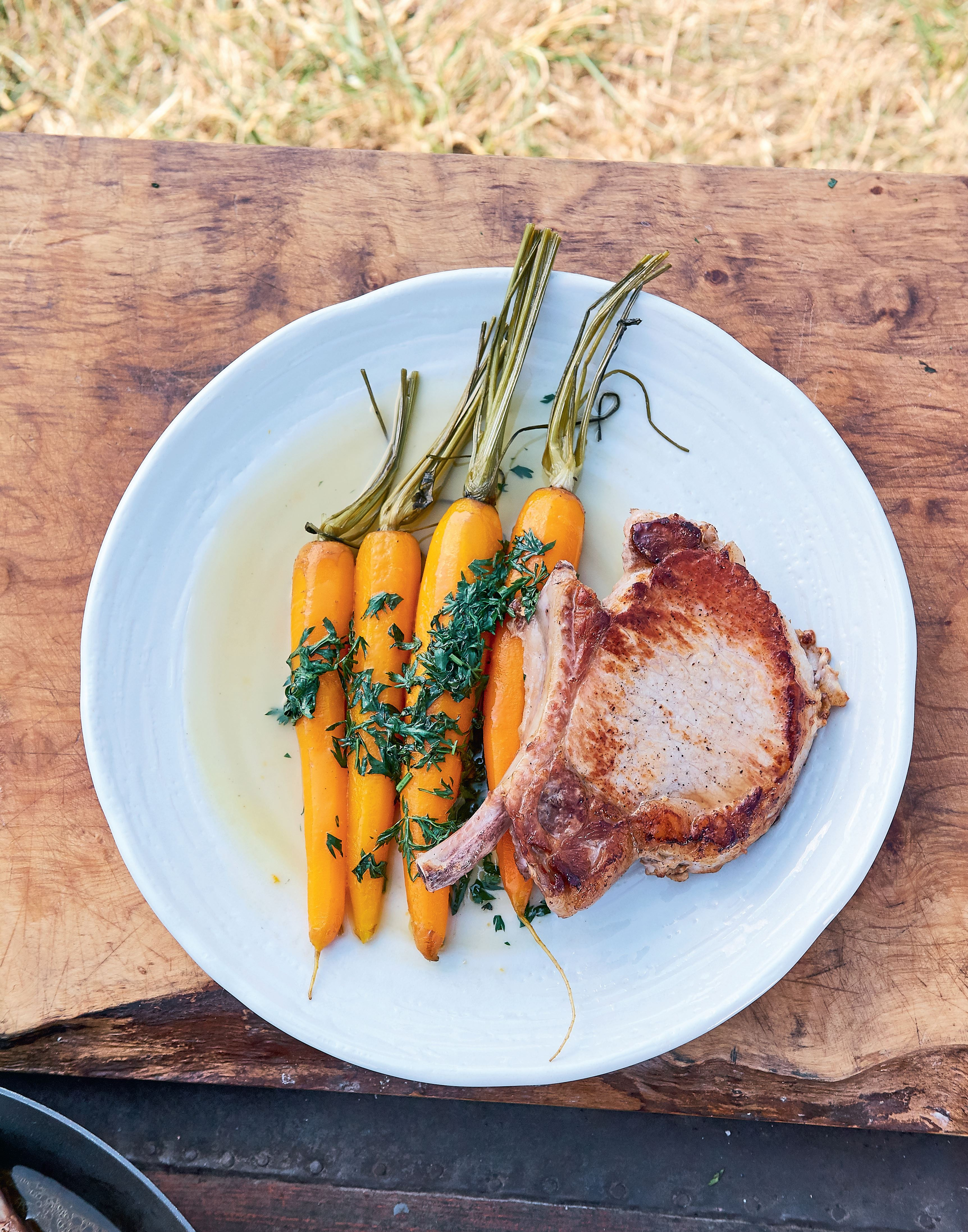 Pork with Vichy carrots