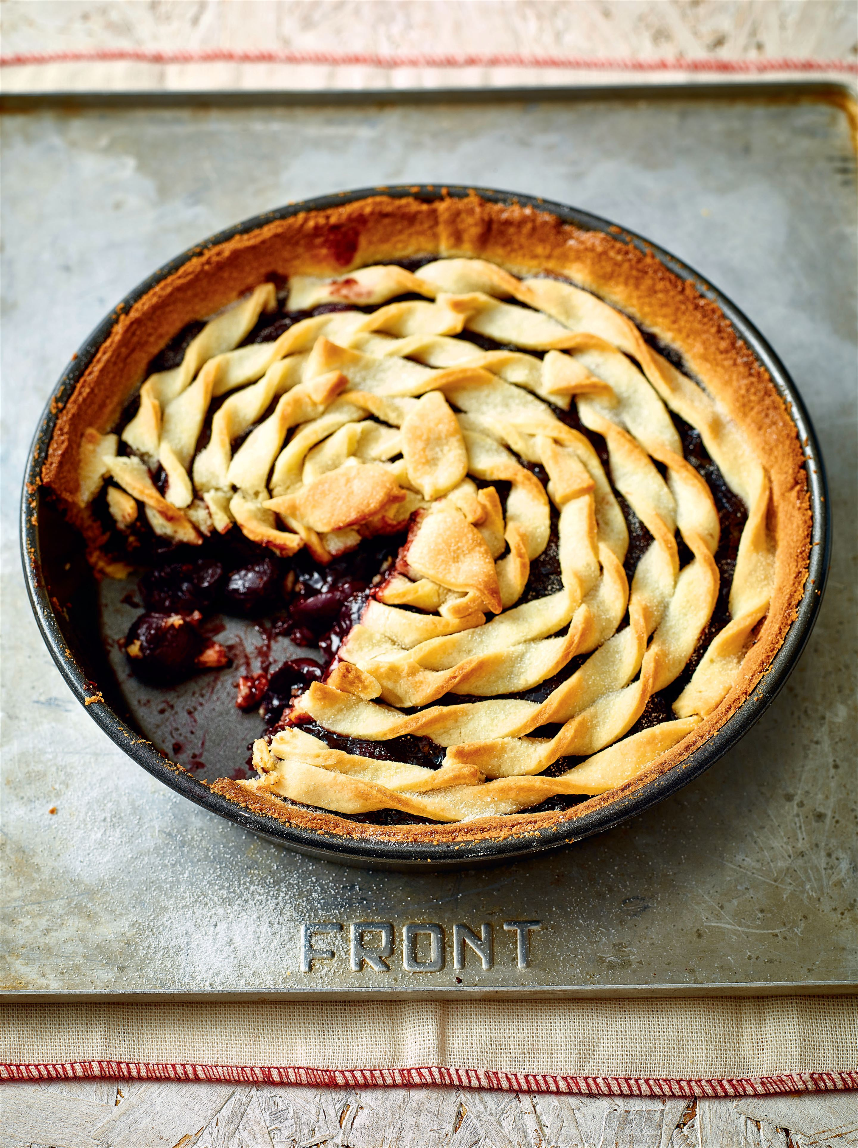 Cherry and peach pie