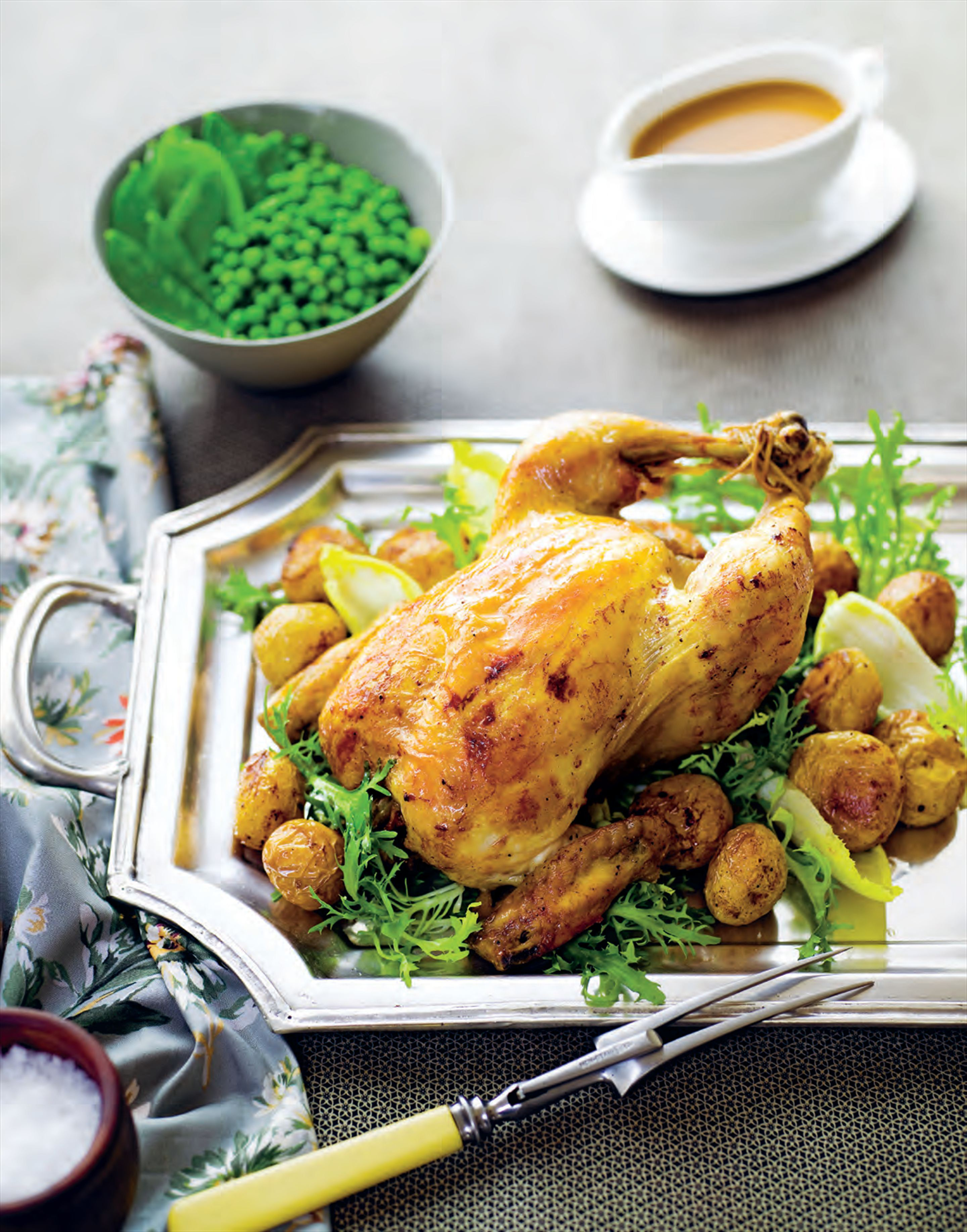 French roast chicken dinner