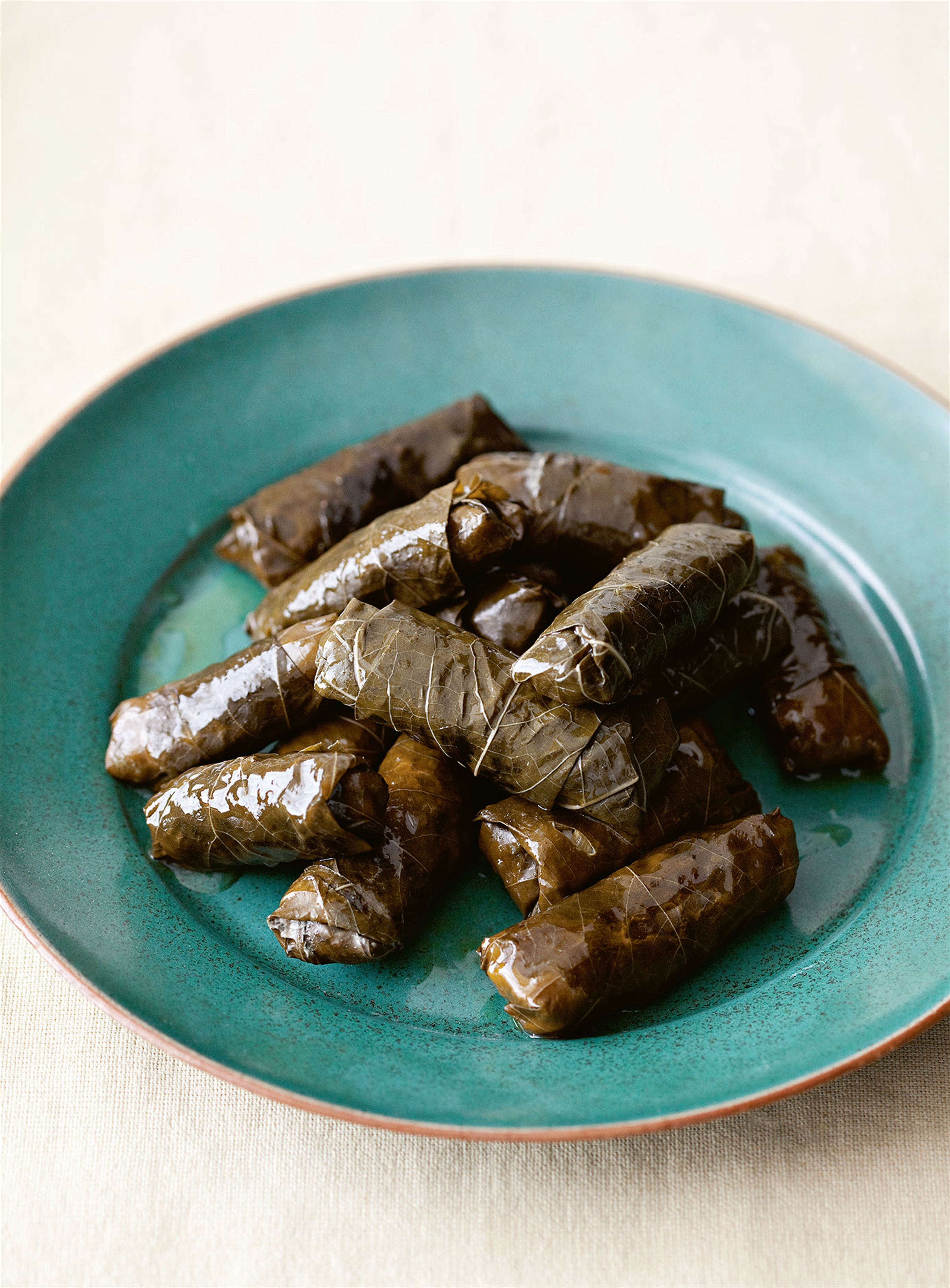 Vine leaves stuffed with pork