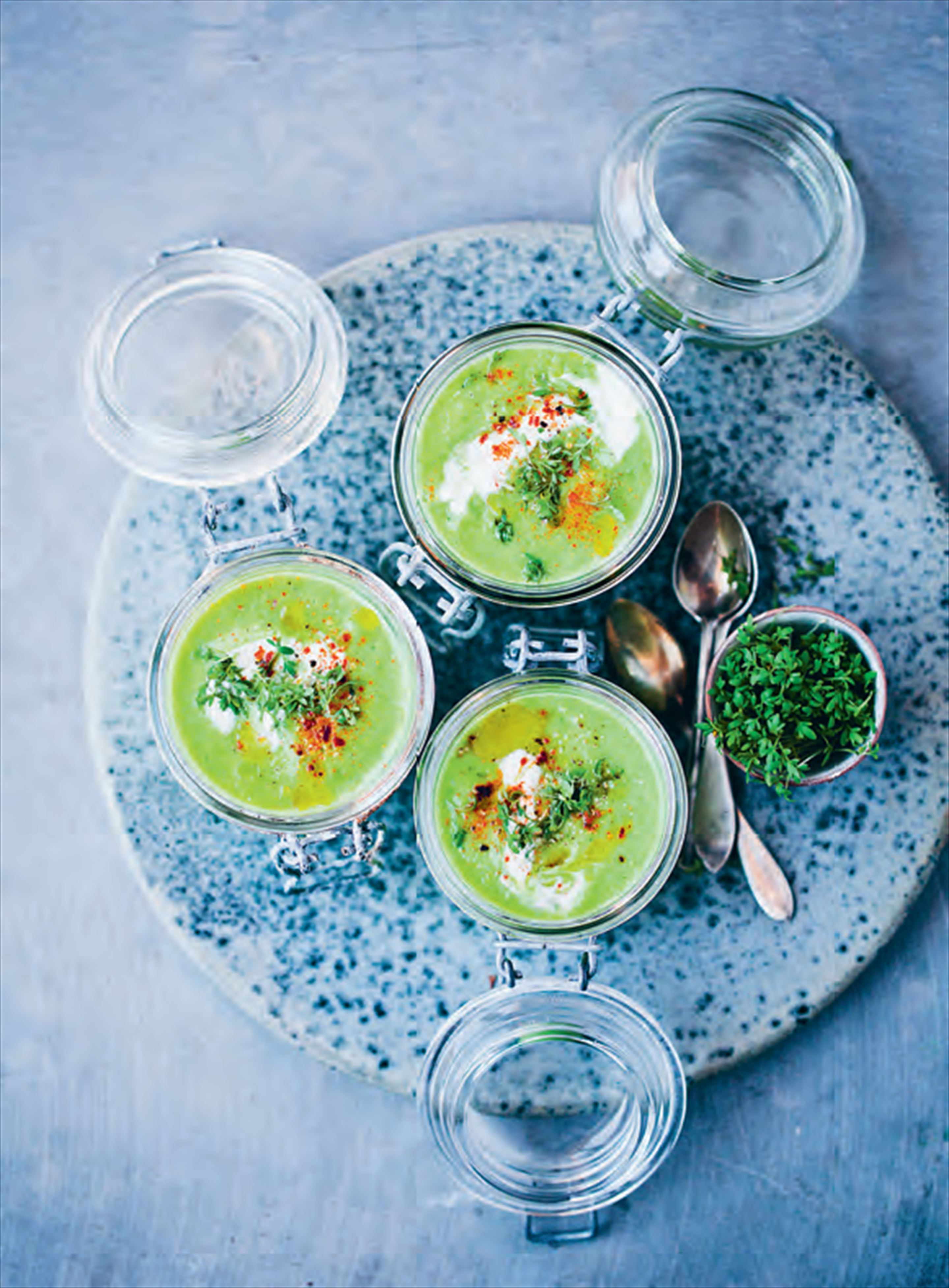 Green gazpacho smoothie
