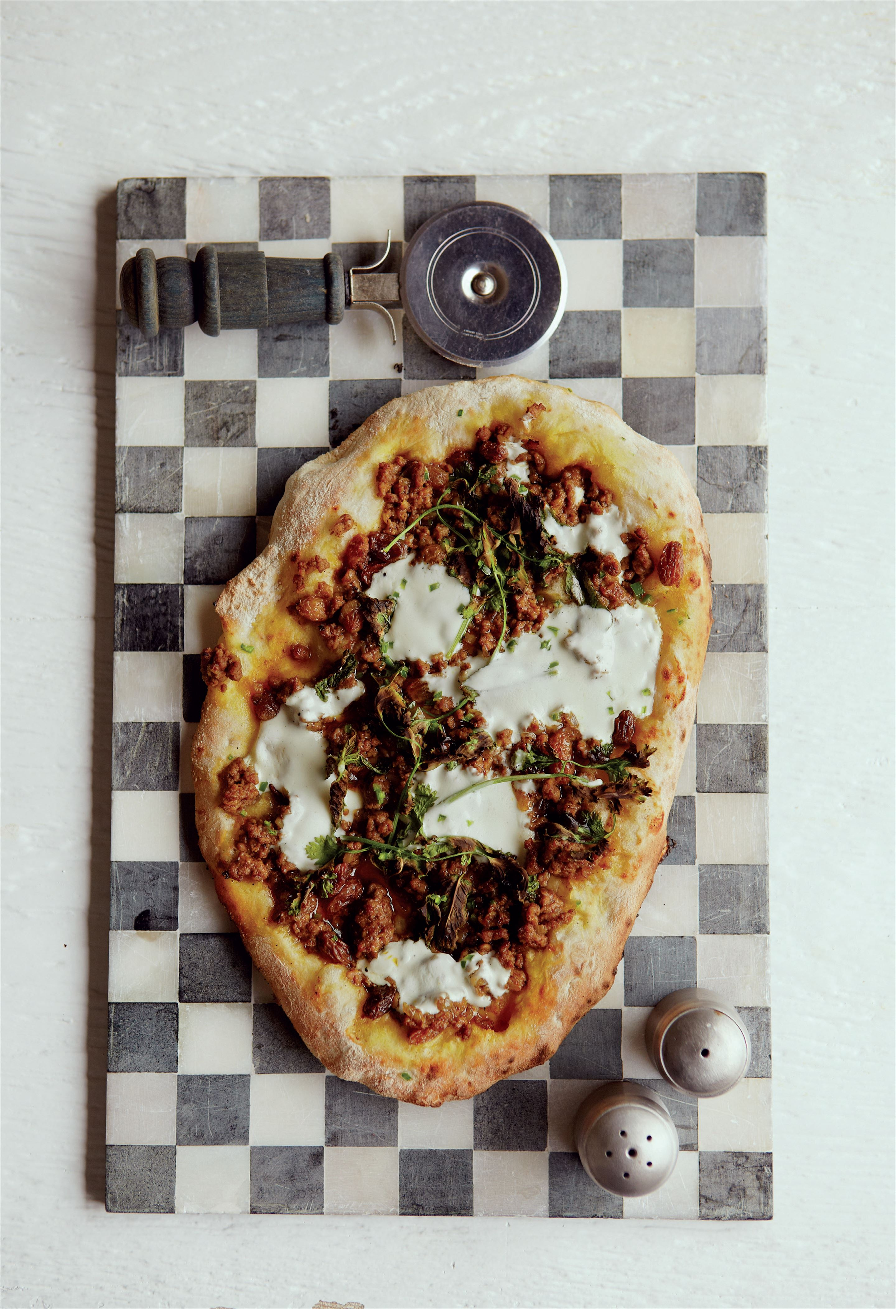 Lebanese spiced lamb flatbread