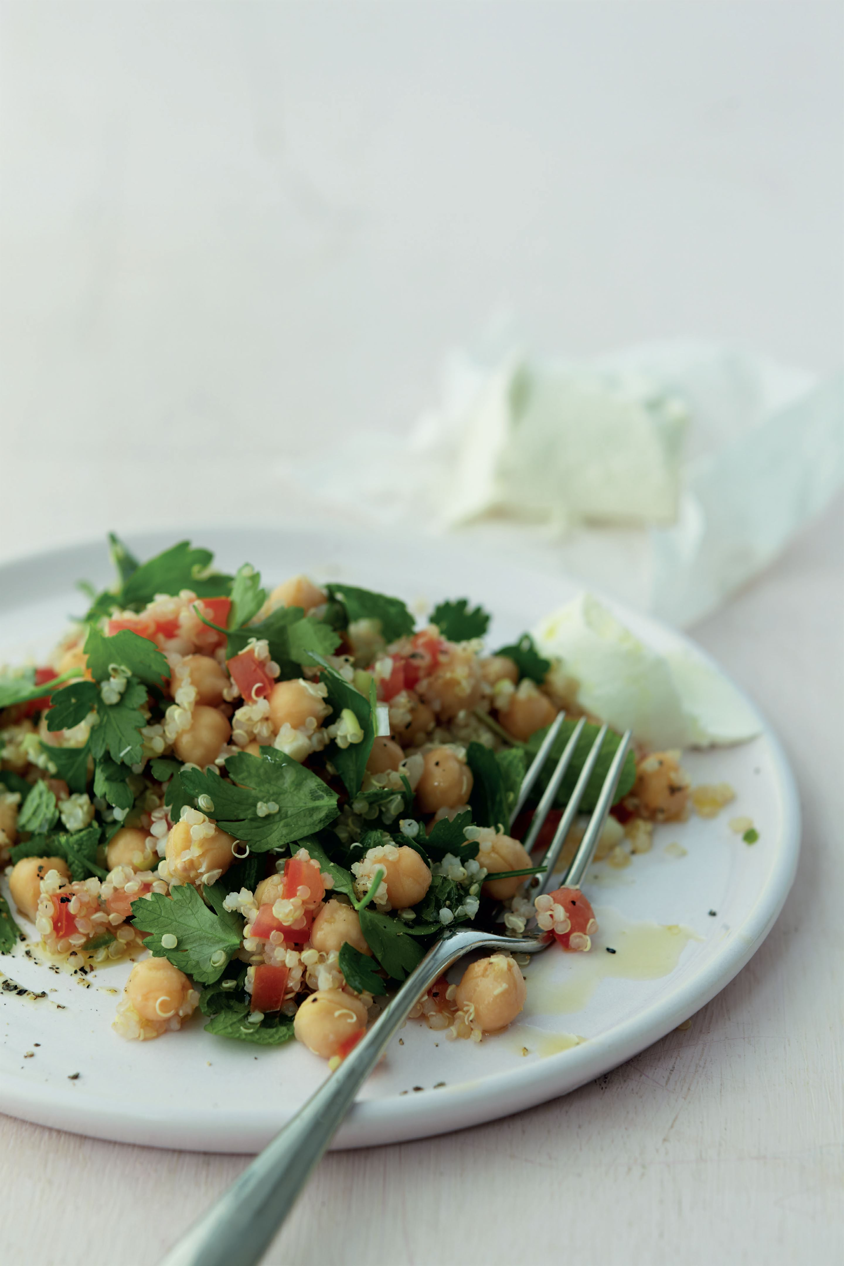 Herby quinoa and chickpea salad