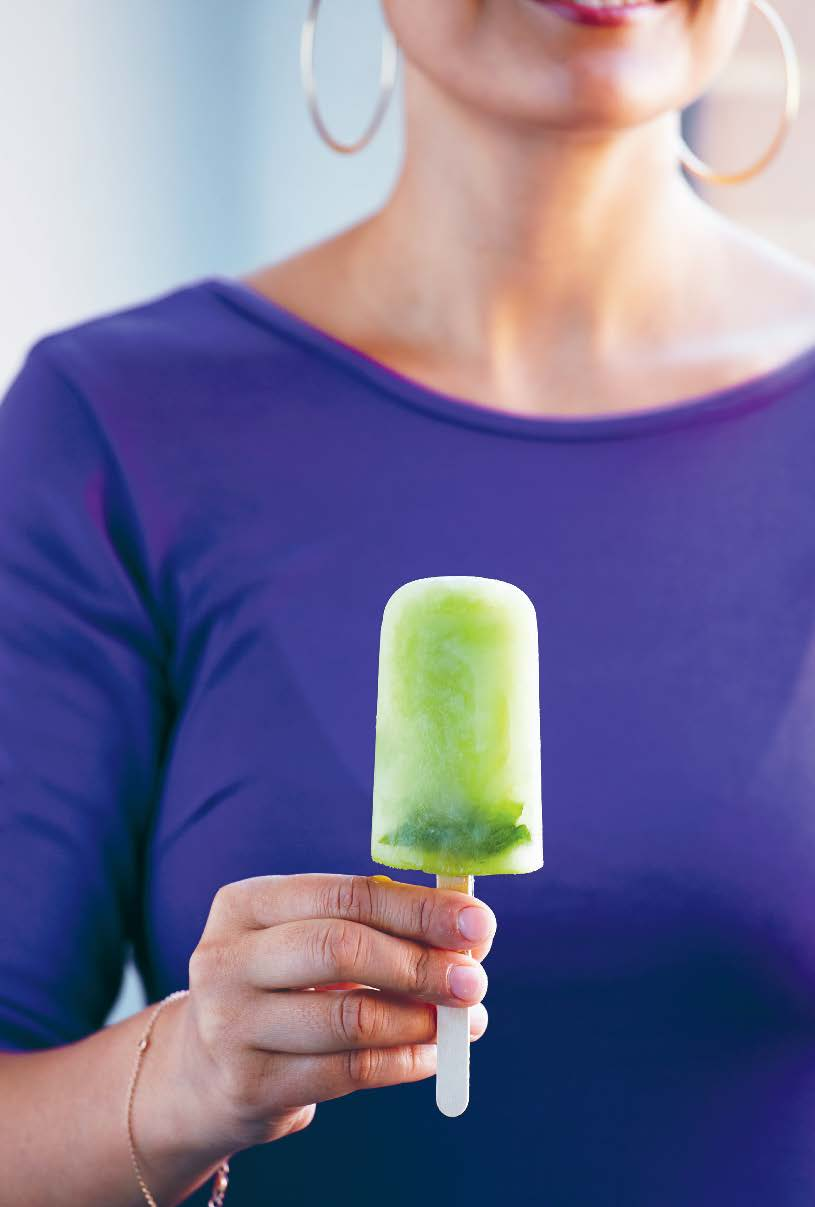 Cucumber & mint popsicles