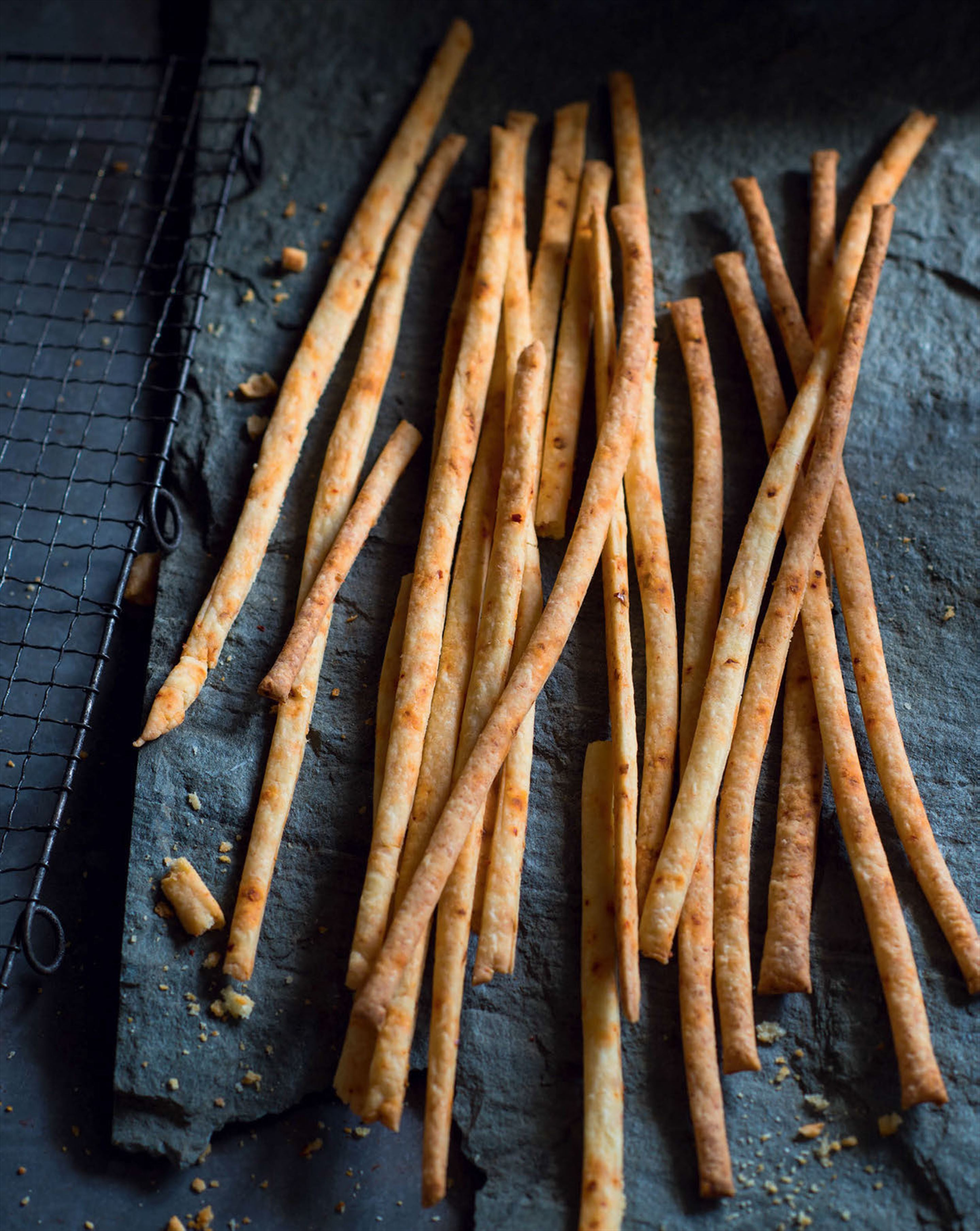 Feta cheese straws with Turkish chilli