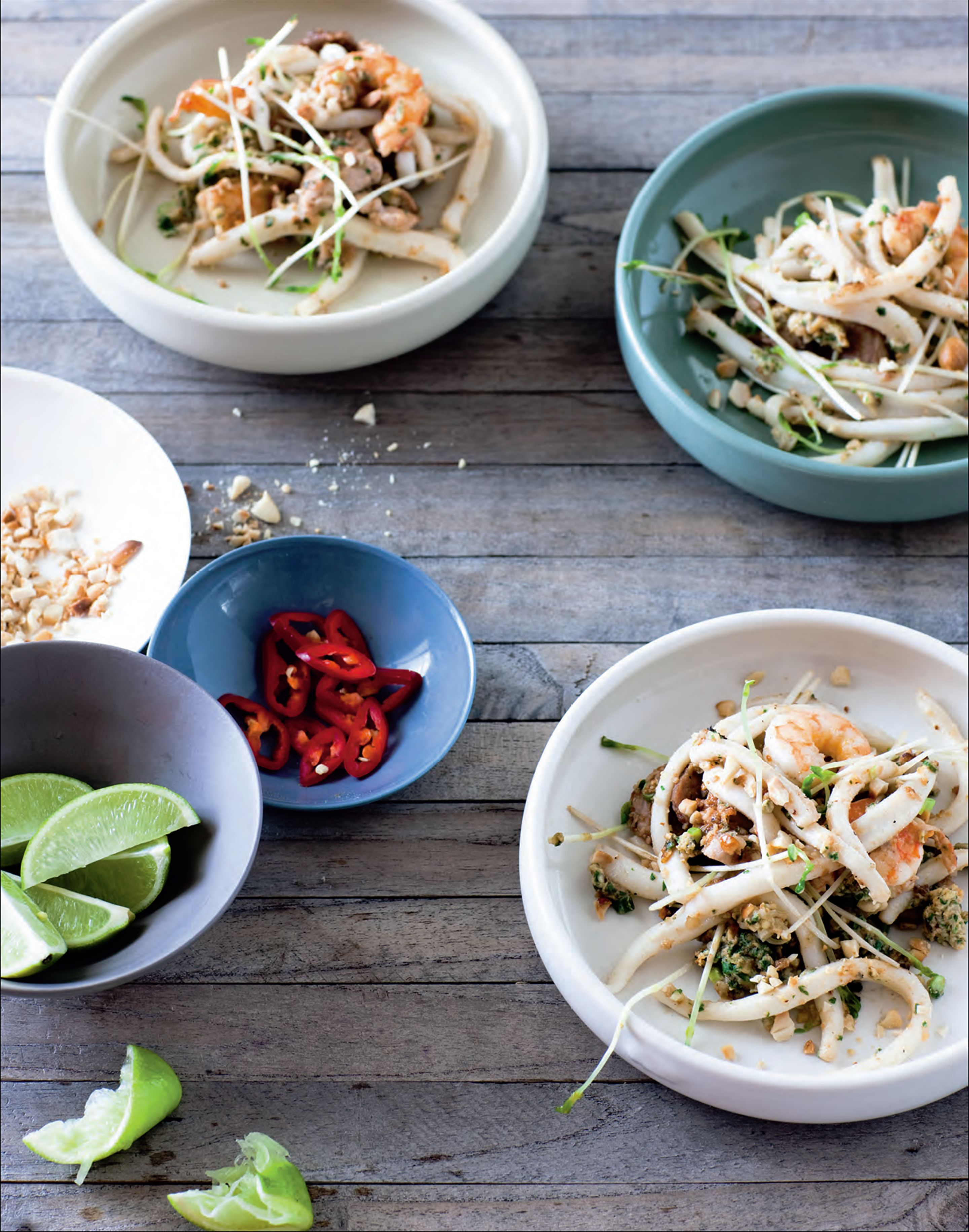 Pad Thai with squid 'noodles'