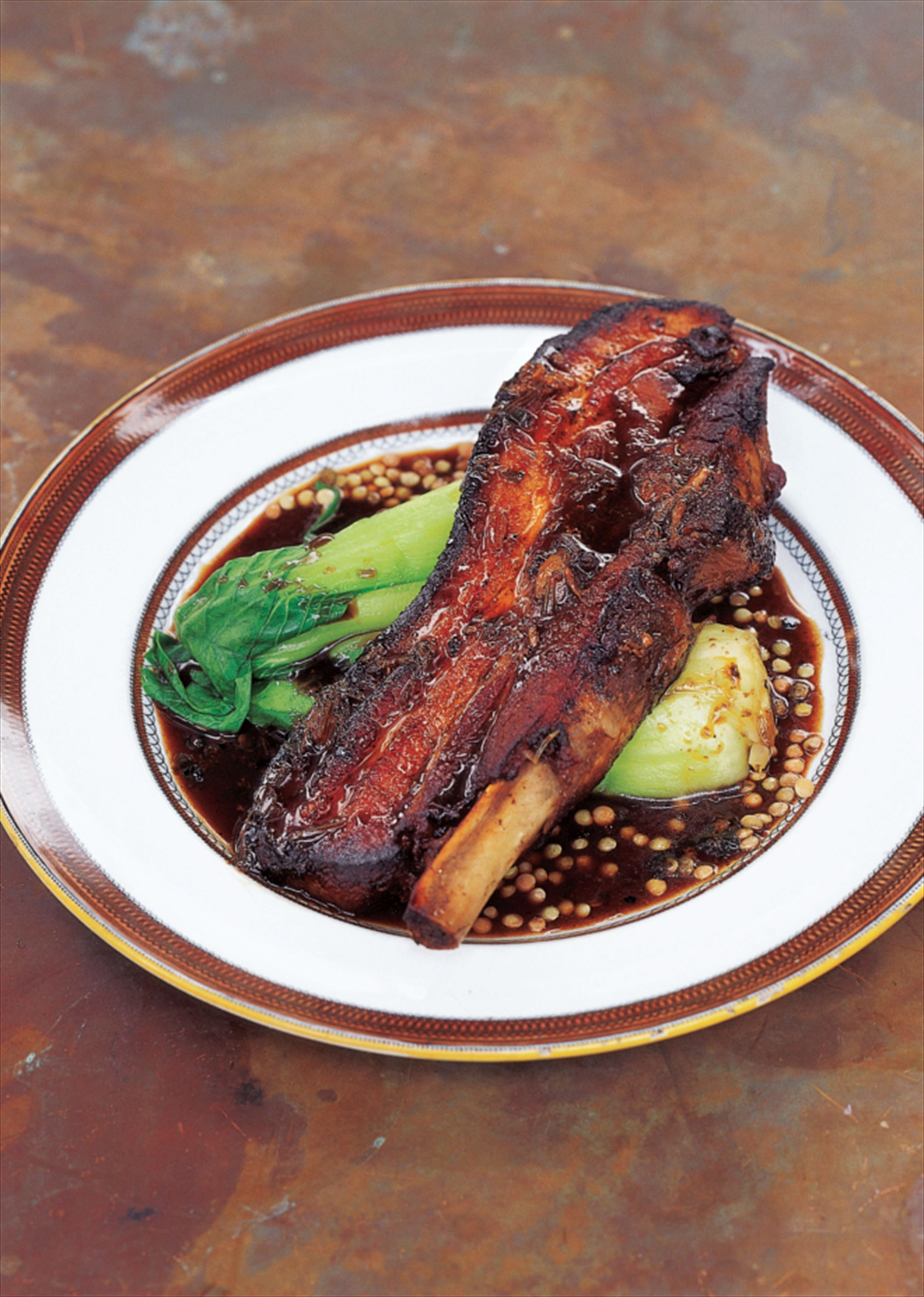 Slow-cooked pork belly with cinnamon, cloves, ginger and star anise