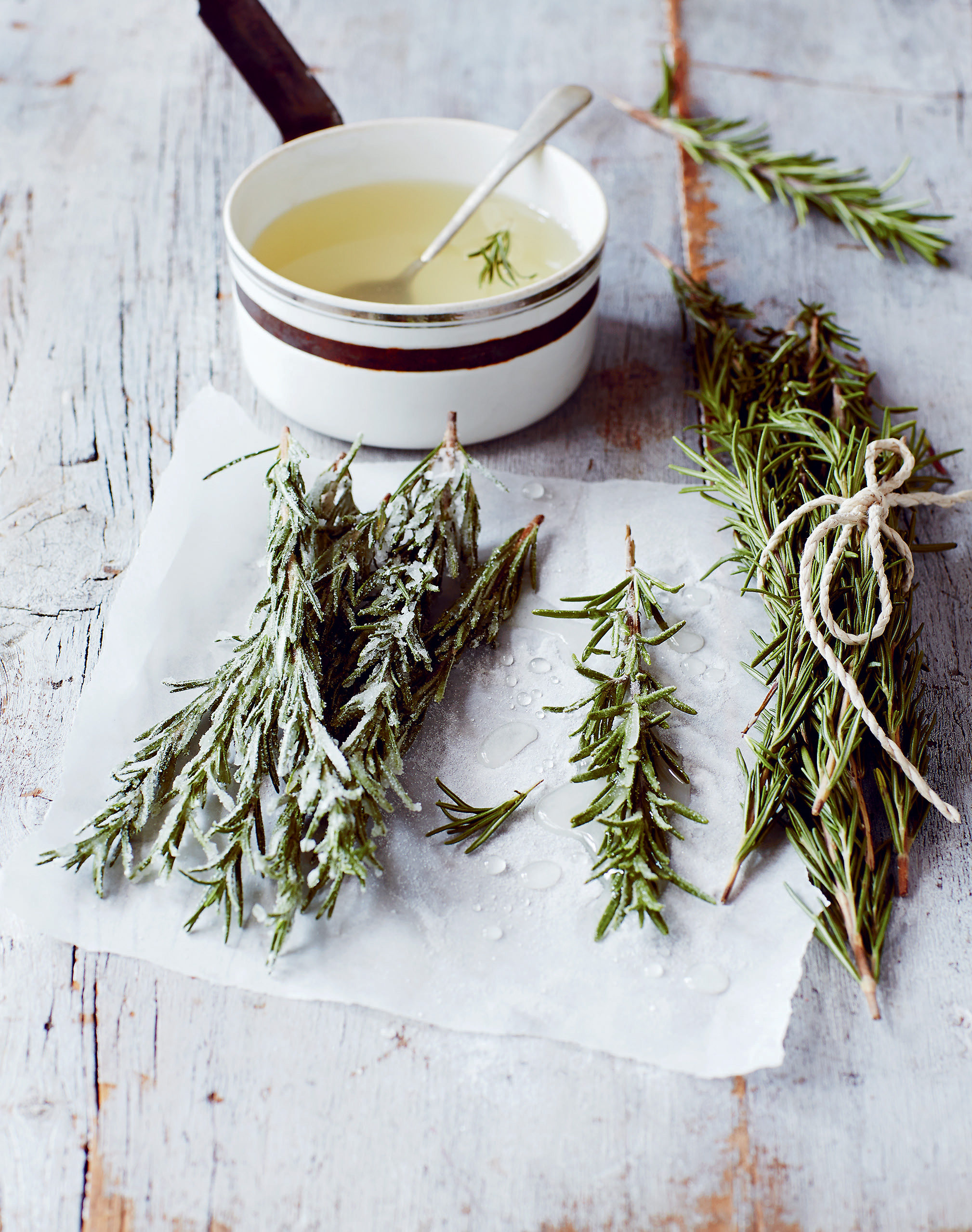 Crystallised rosemary