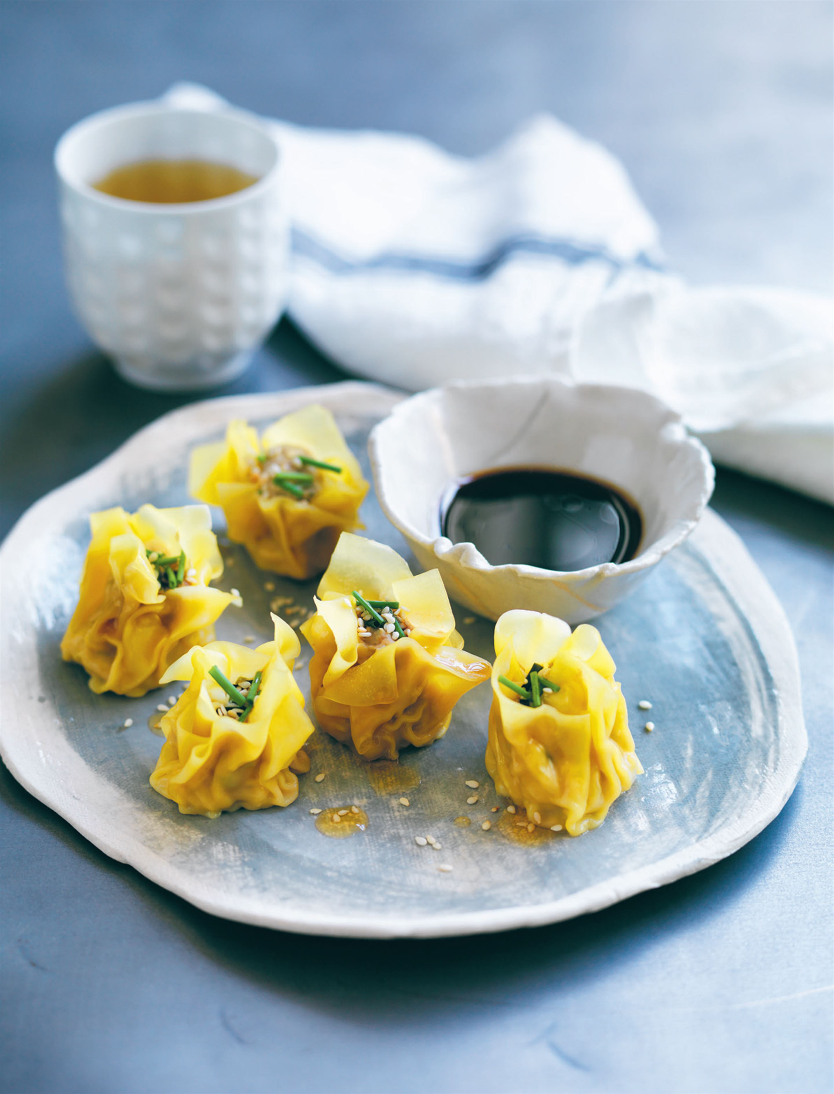 Chicken ginger wontons