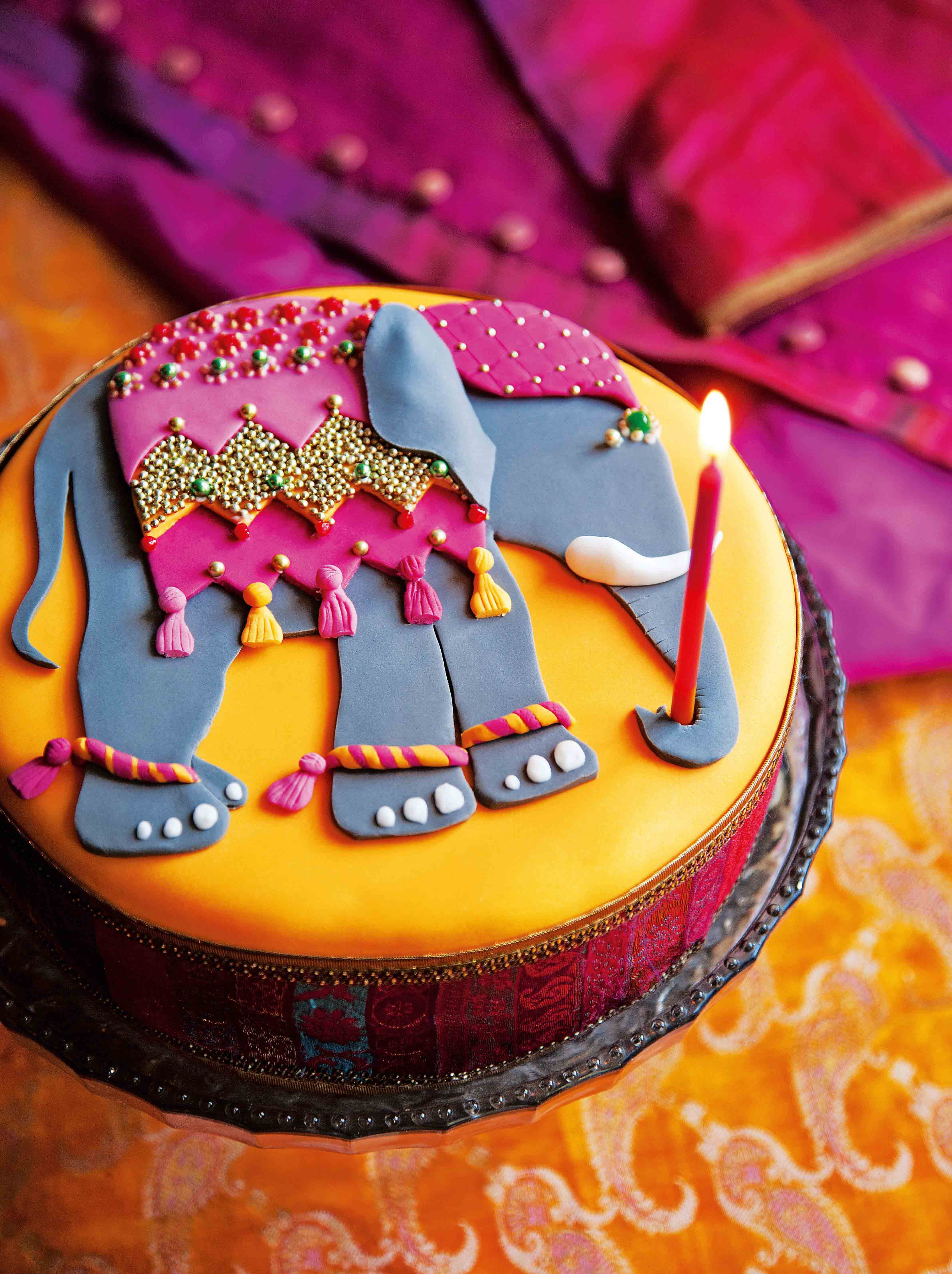 Bejewelled elephant
