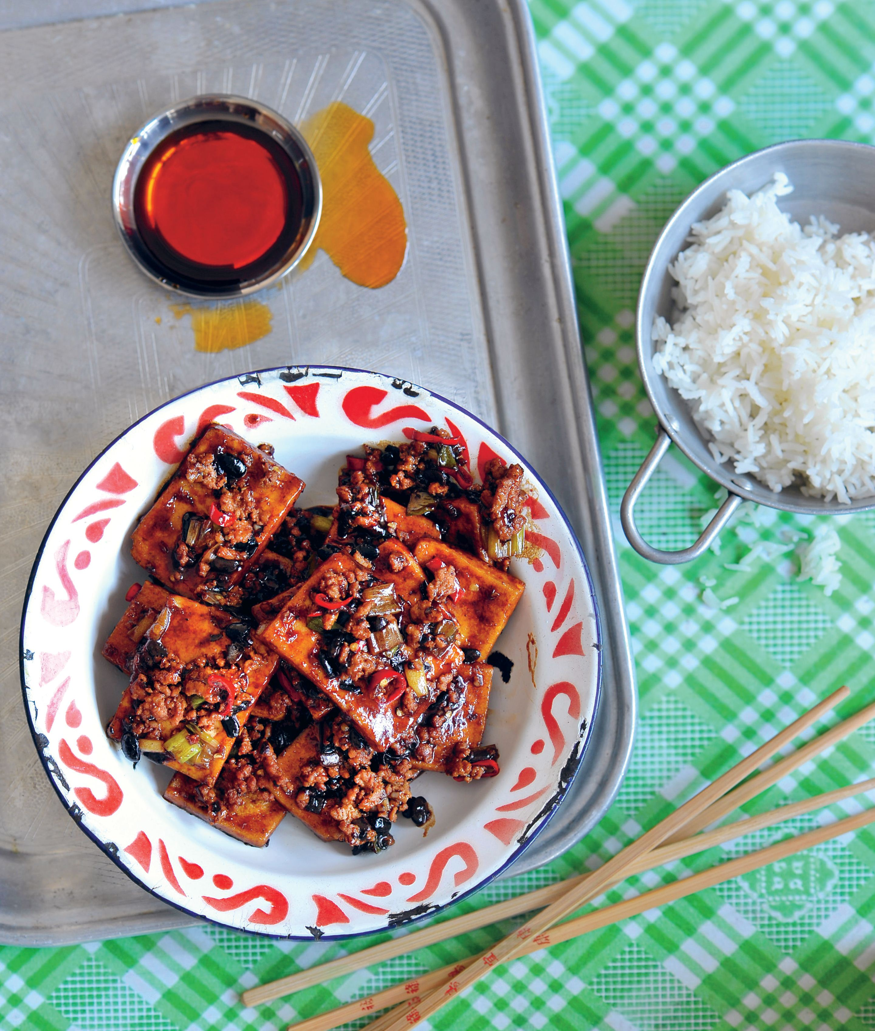 Spicy black bean tofu