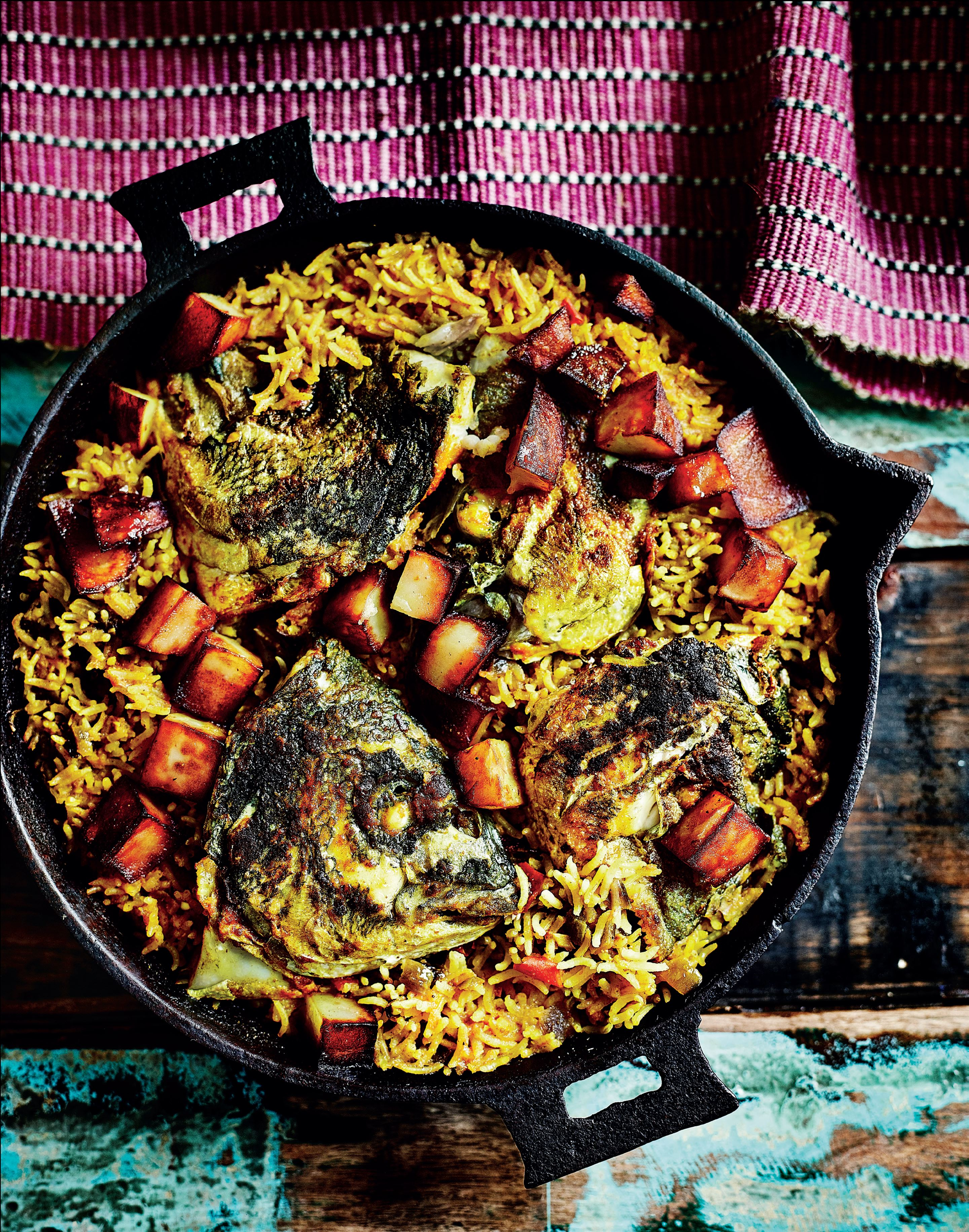 Bengali fish head rice
