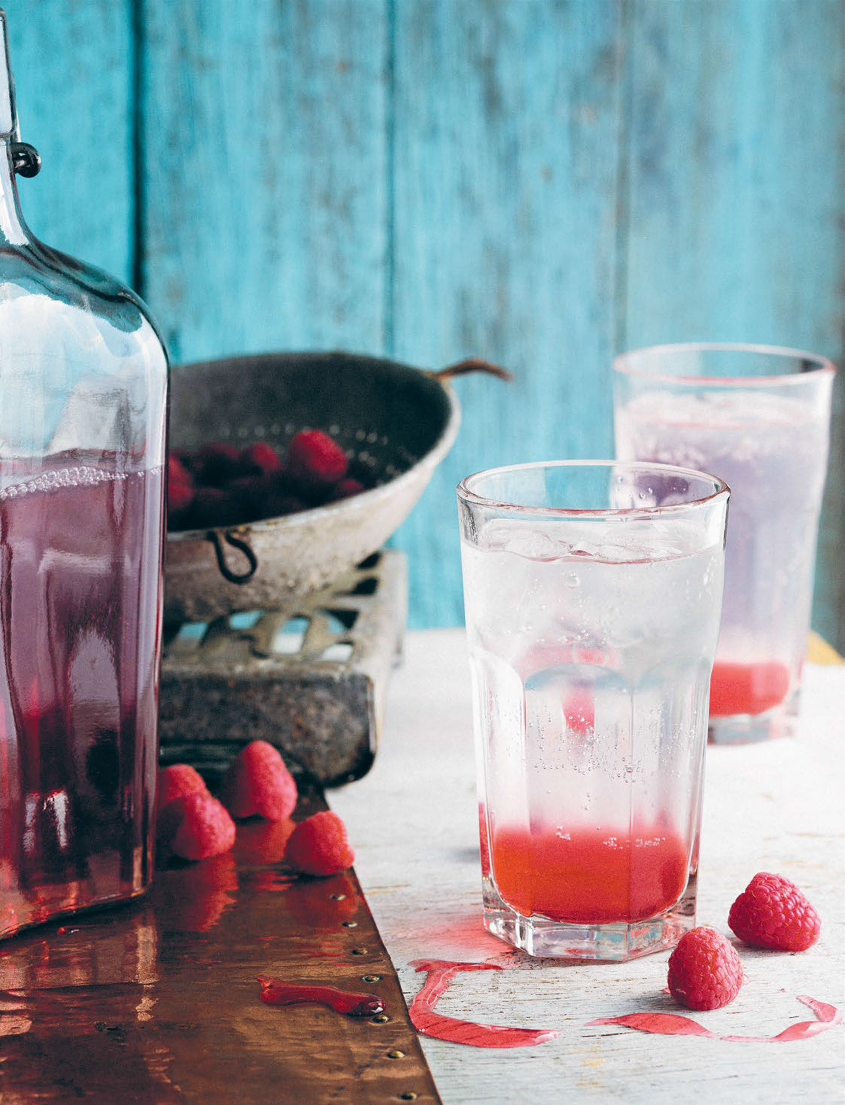 Raspberry and apple cordial