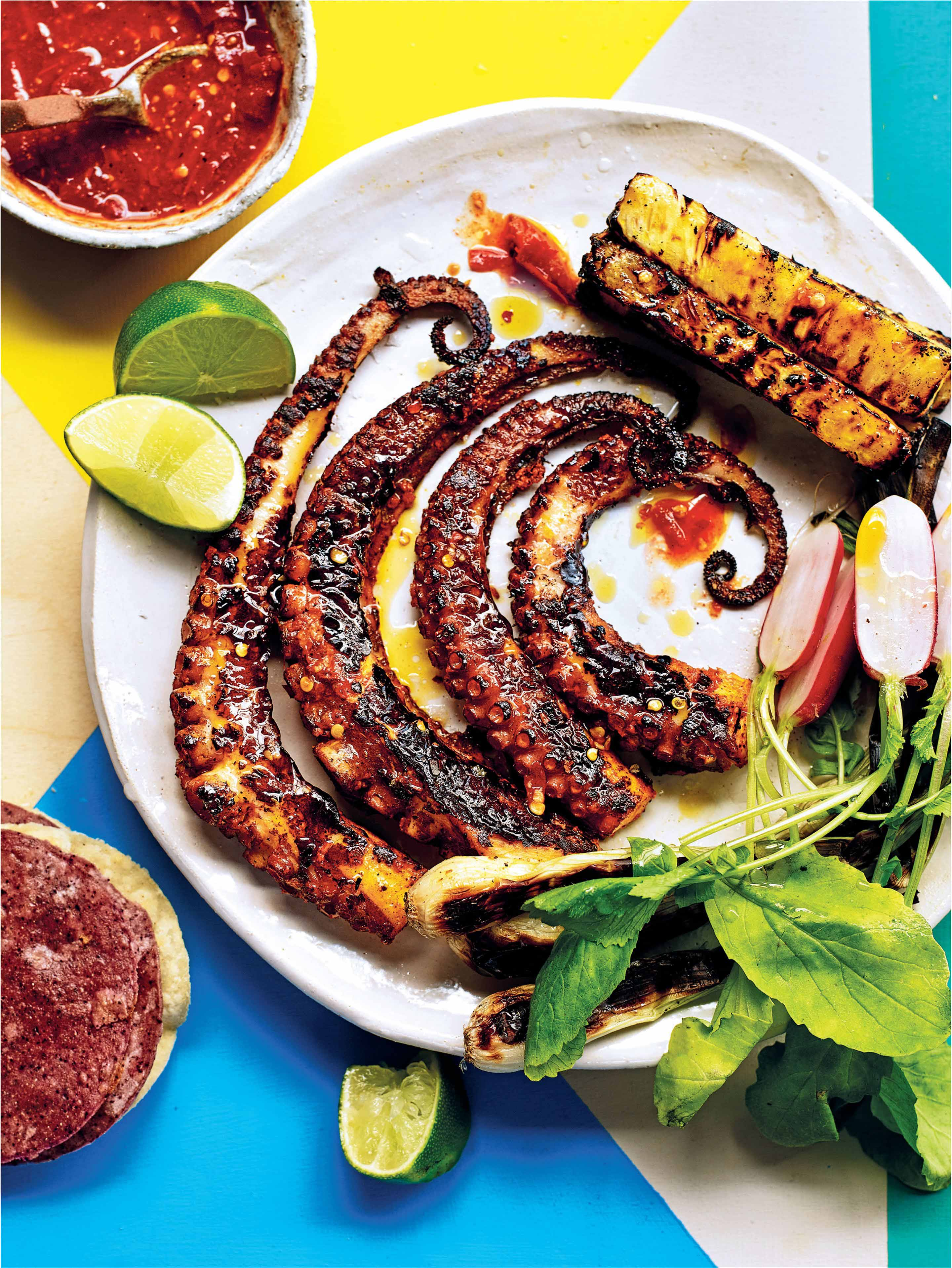Octopus 'al pastor' & roasted pineapple