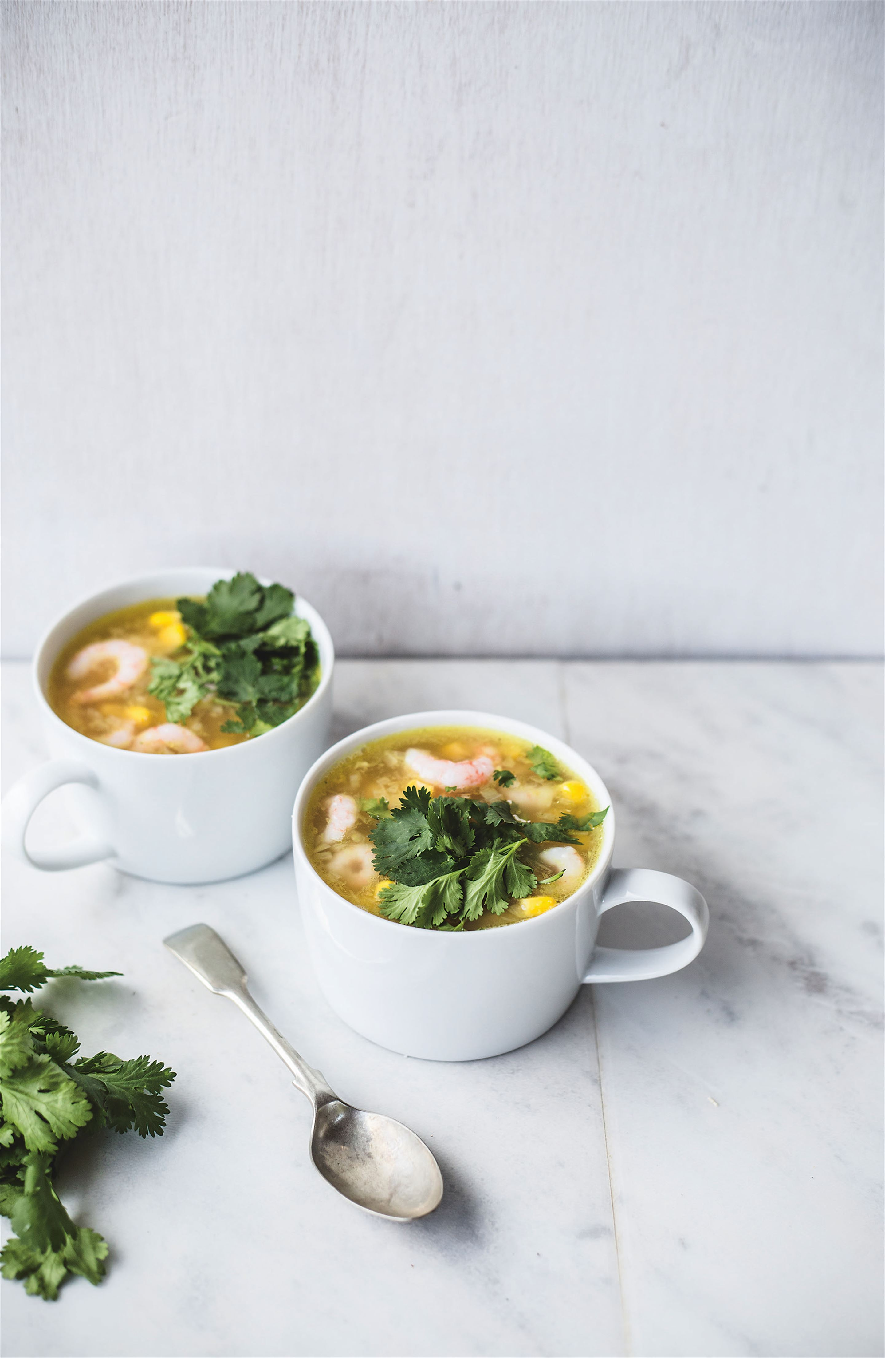 Prawn and corn soup
