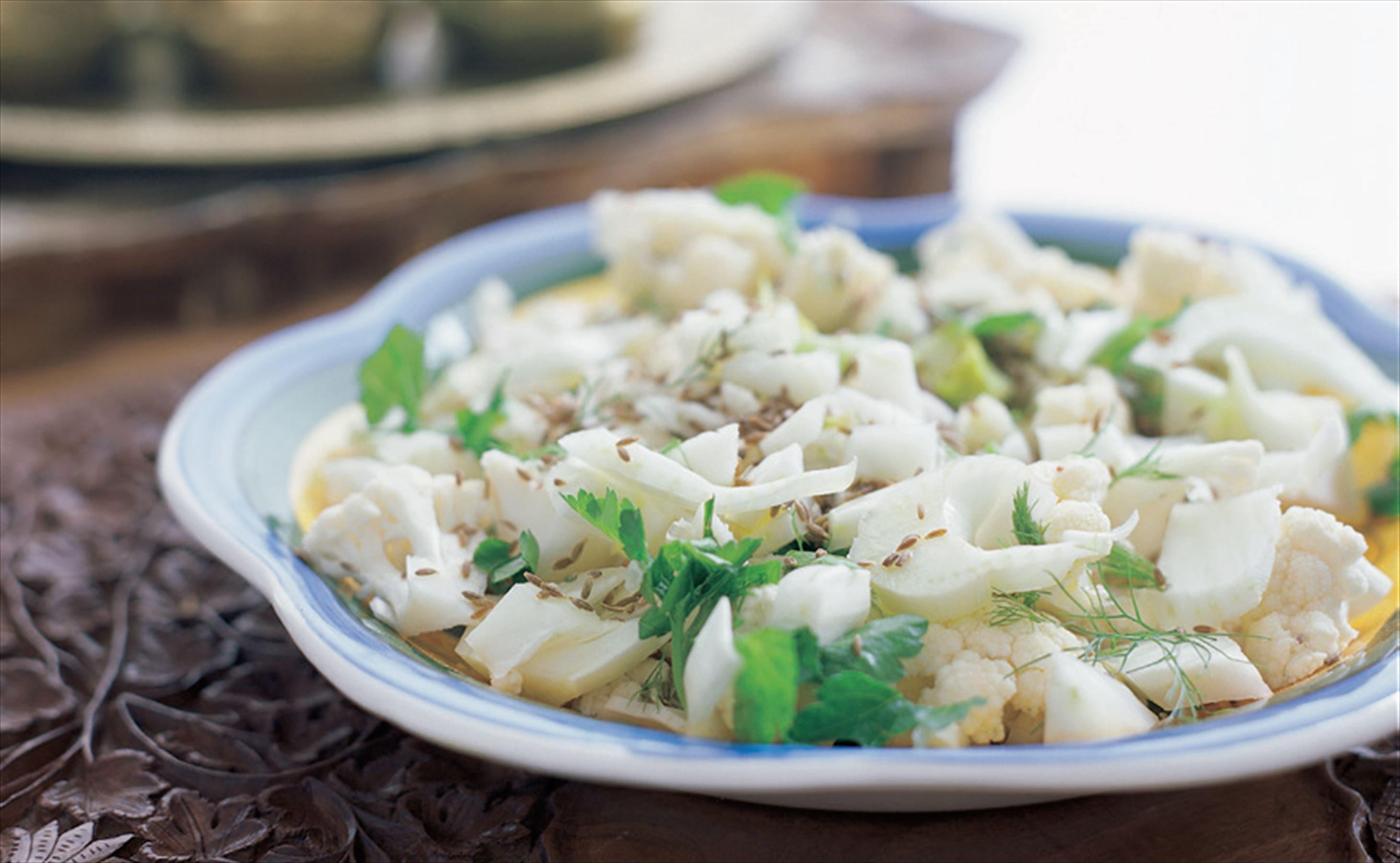 Cauliflower and aniseed (fennel) salad