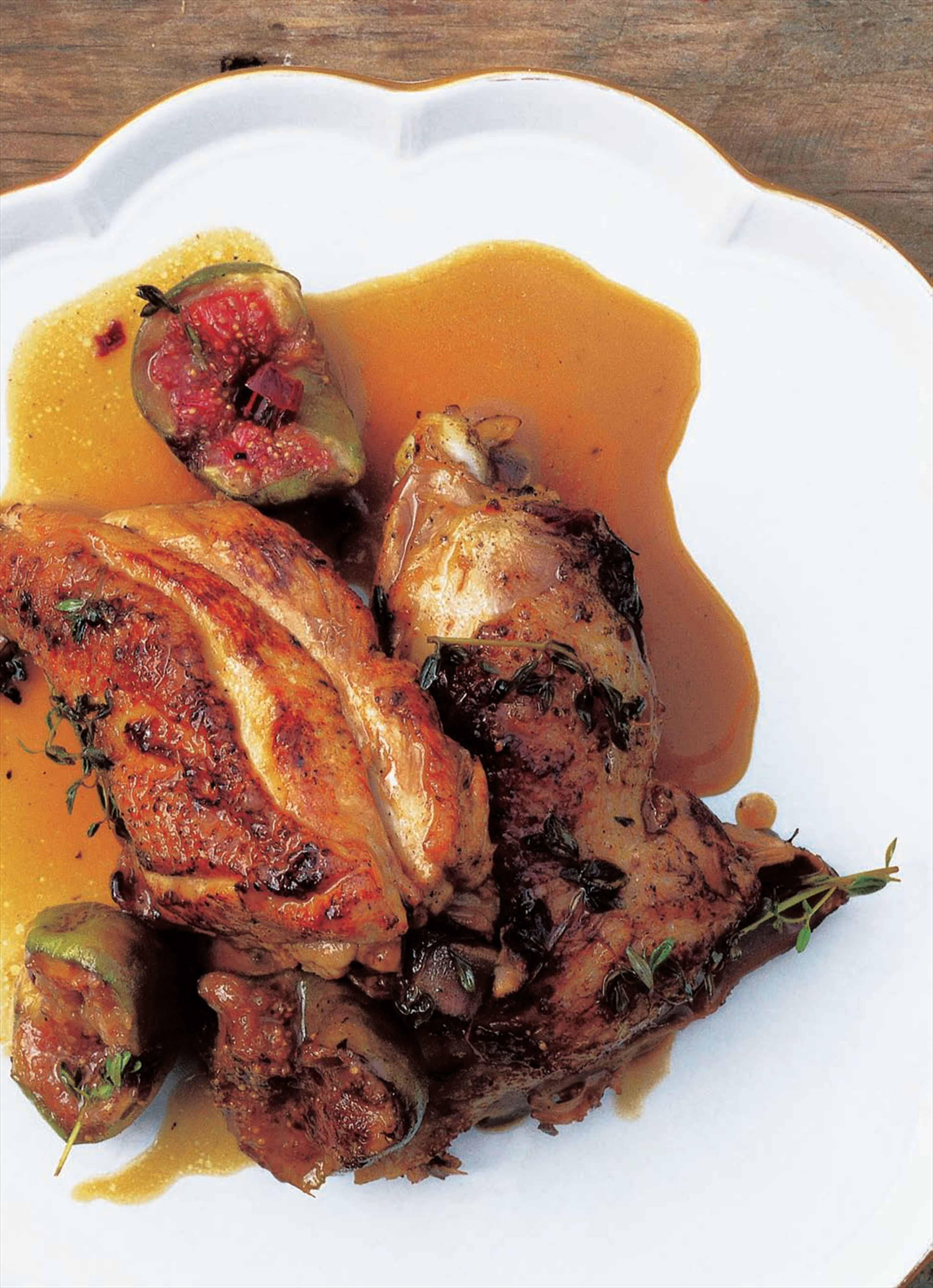 Chicken with figs and honey