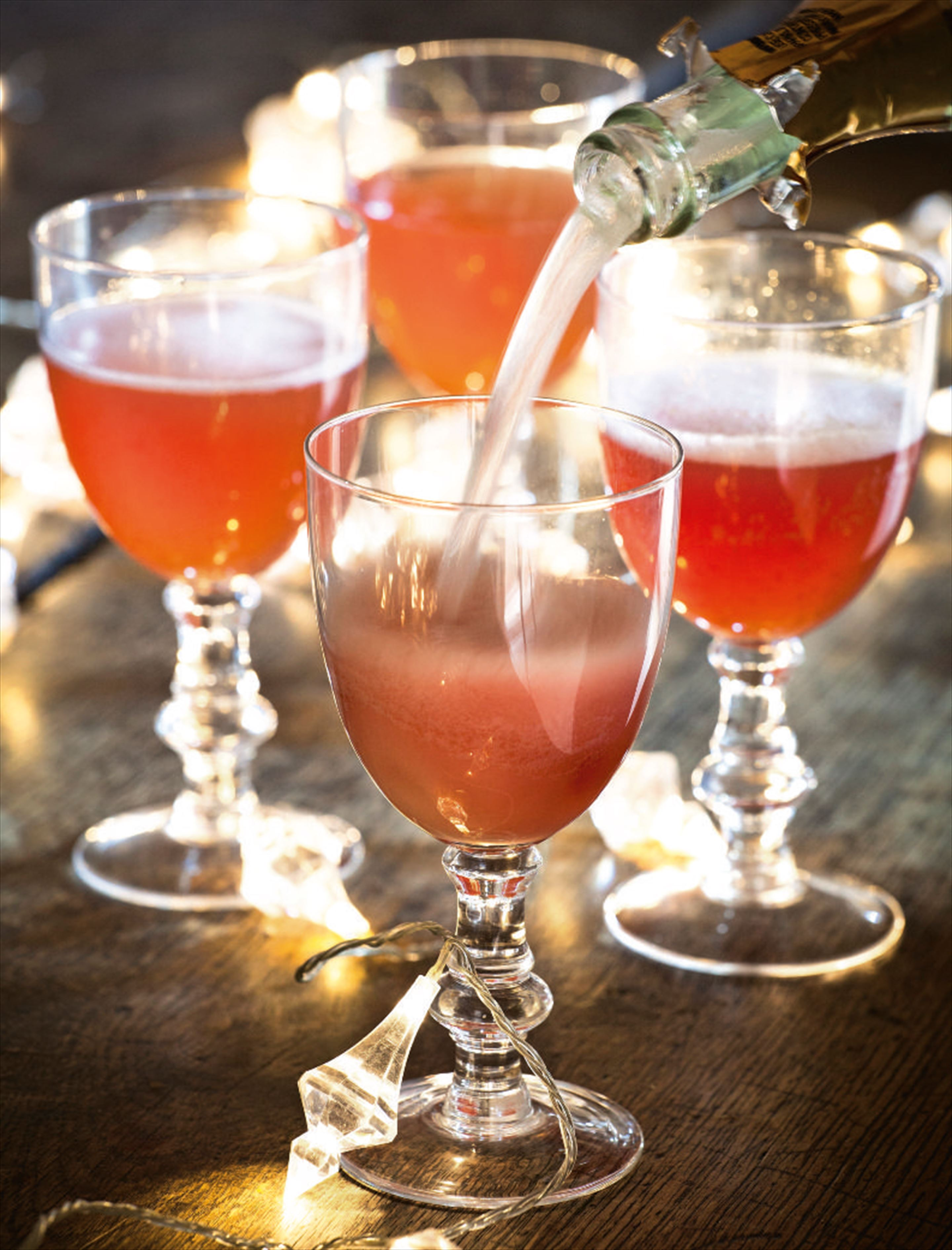 Pomegranate bellinis
