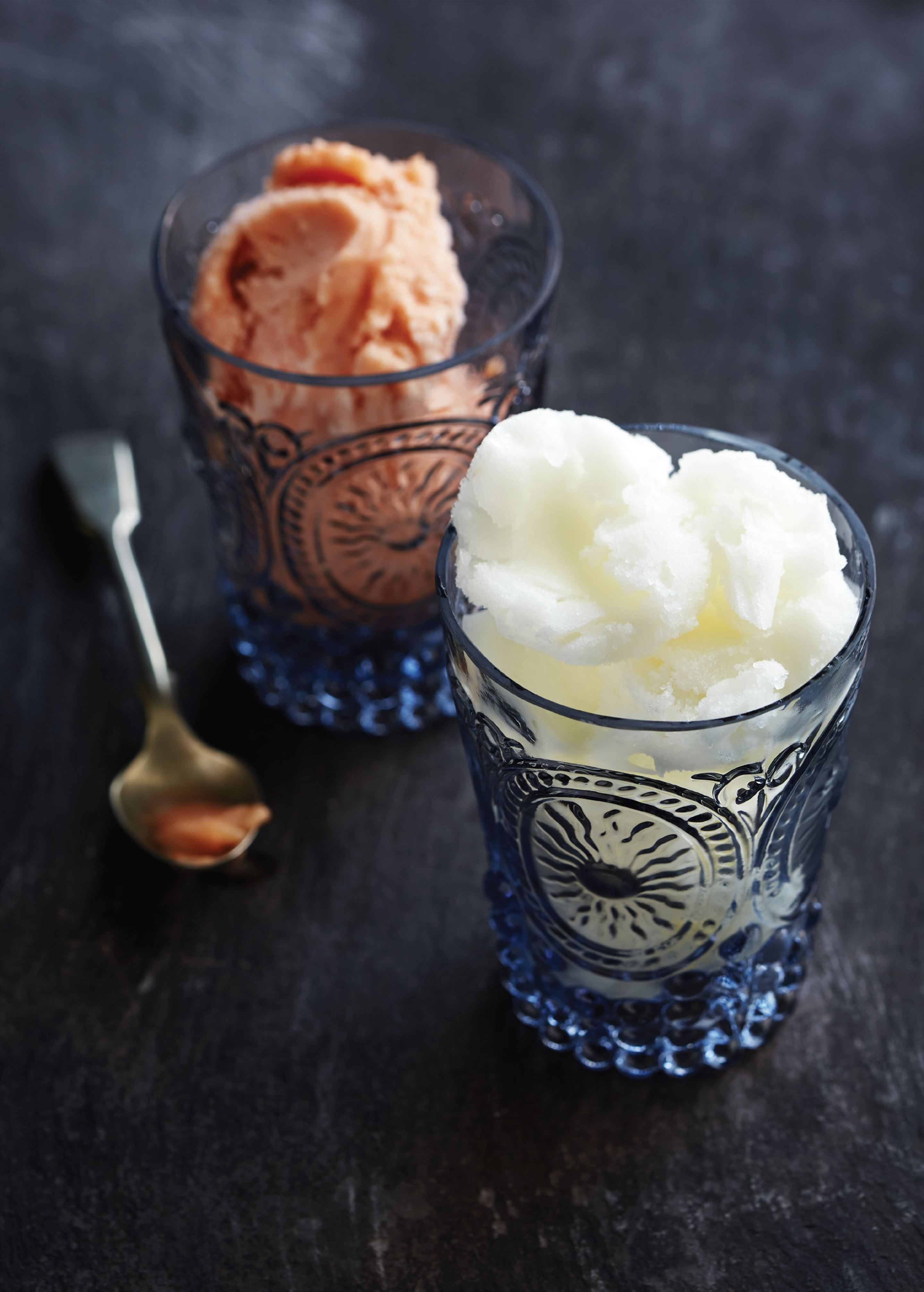Elderflower and prosecco sorbet