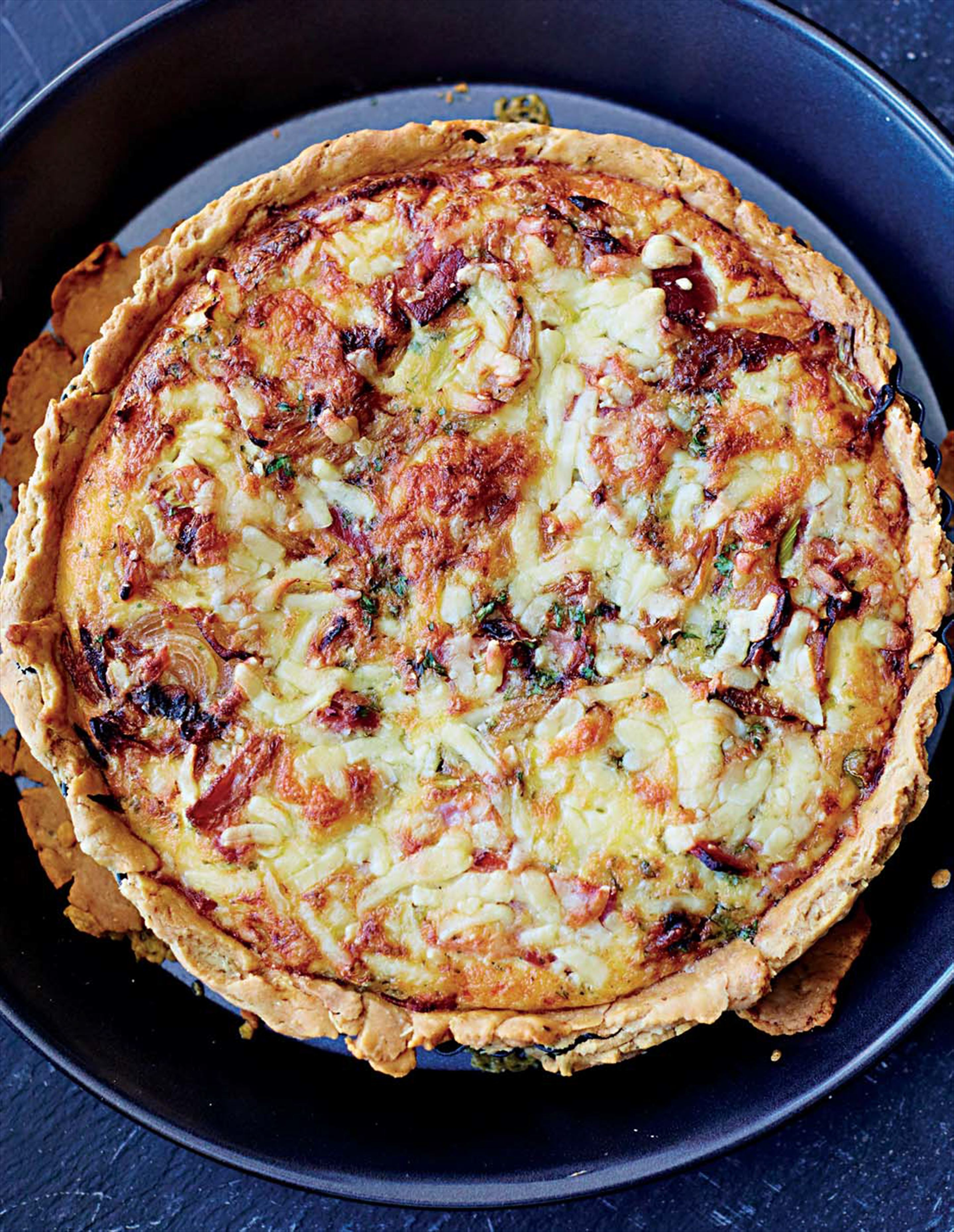 Bacon and onion quiche