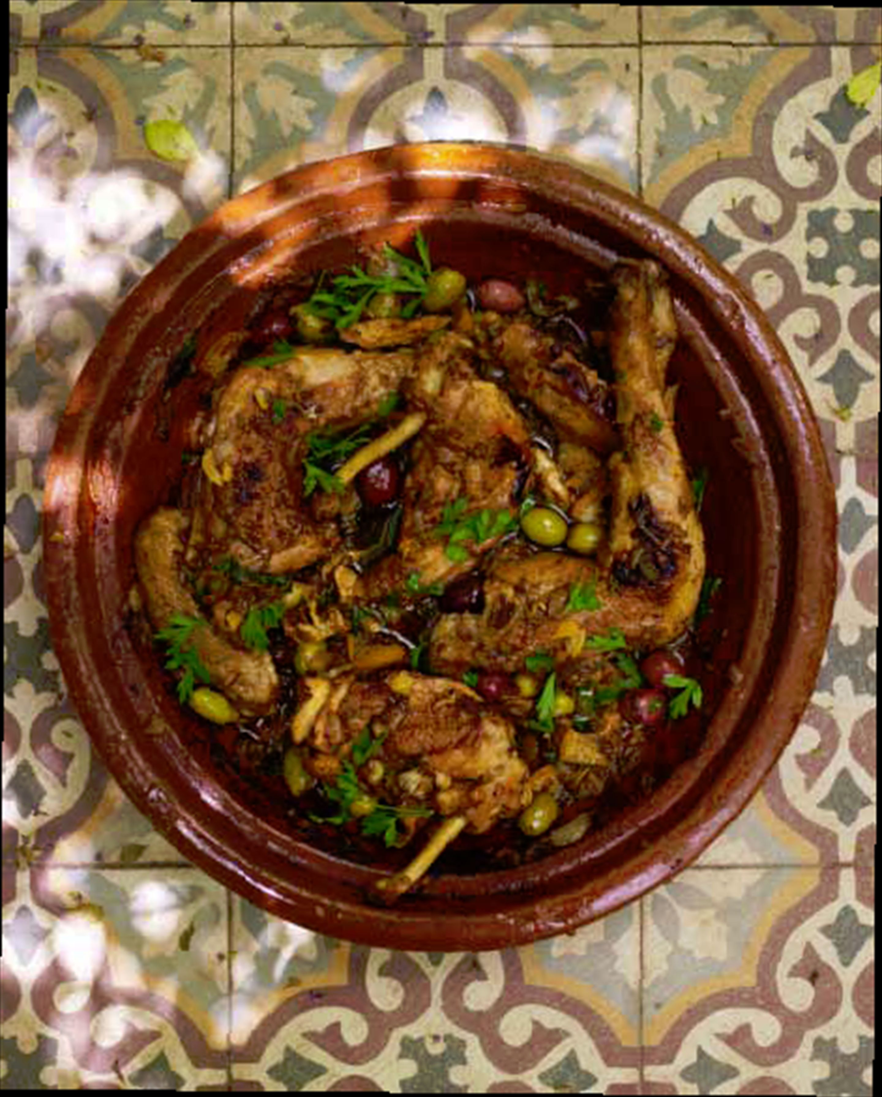 Chicken, preserved lemon & olive tagine