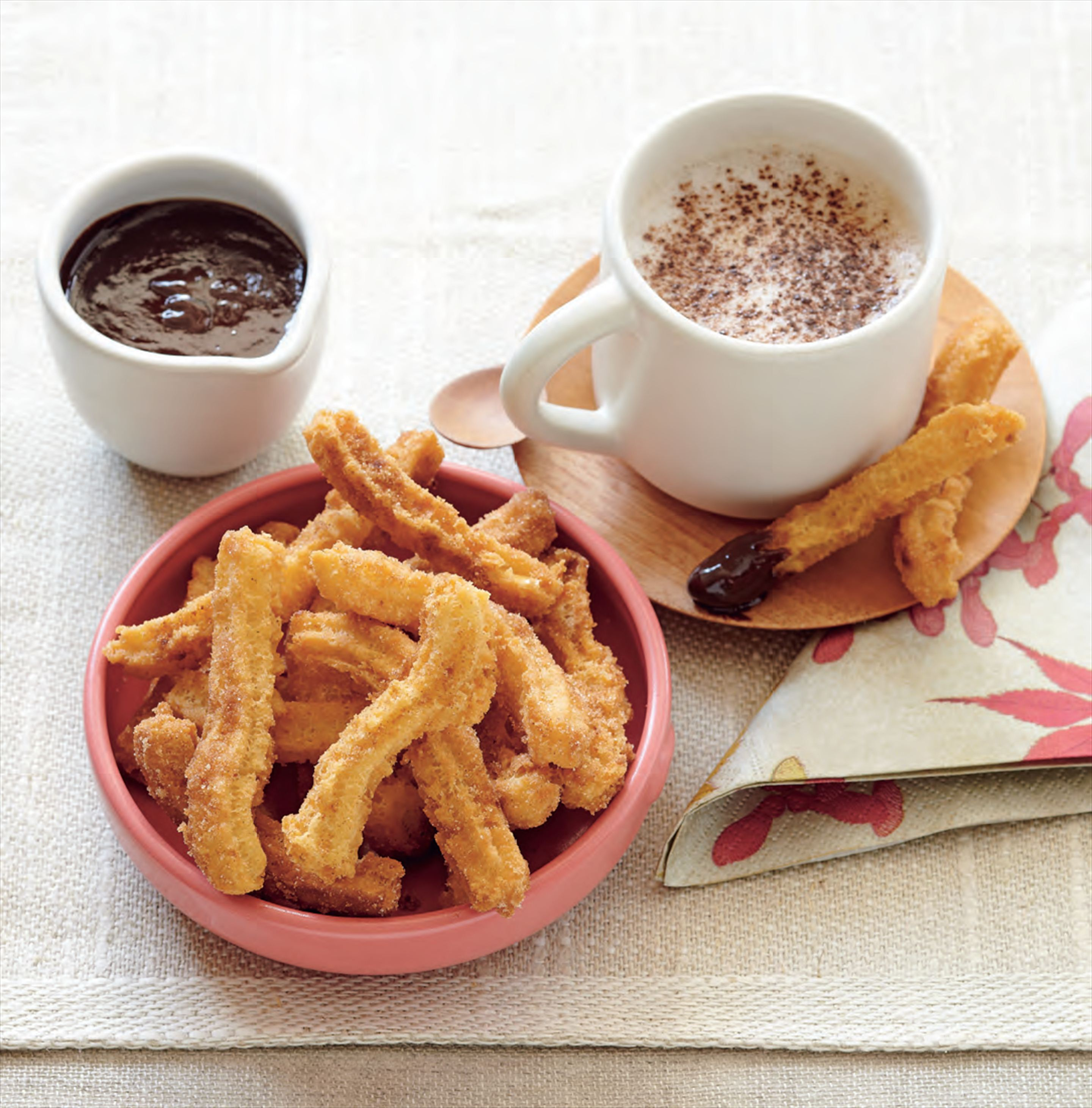 Churros with chilli-chocolate sauce