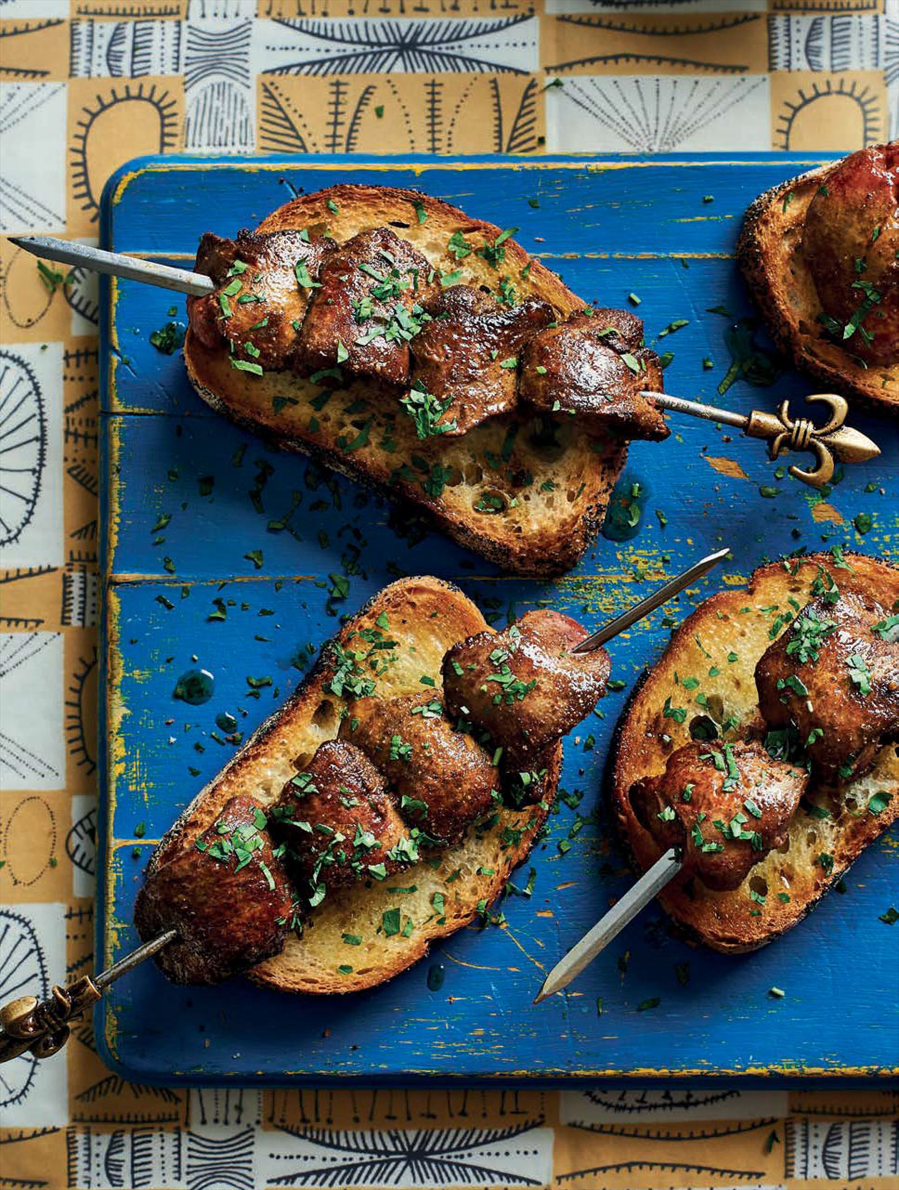 Chicken liver en brochette