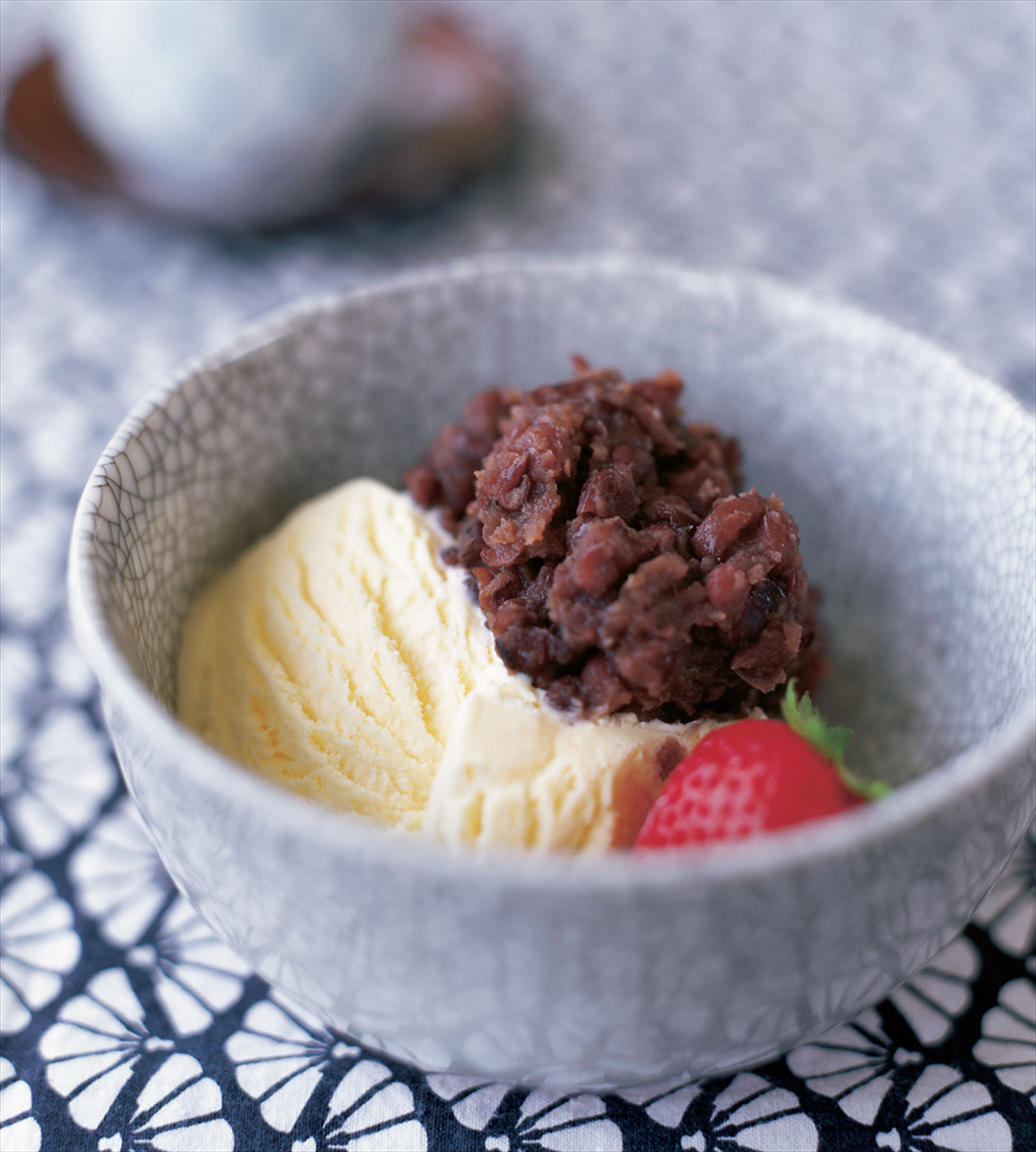 Ice-cream with adzuki beans
