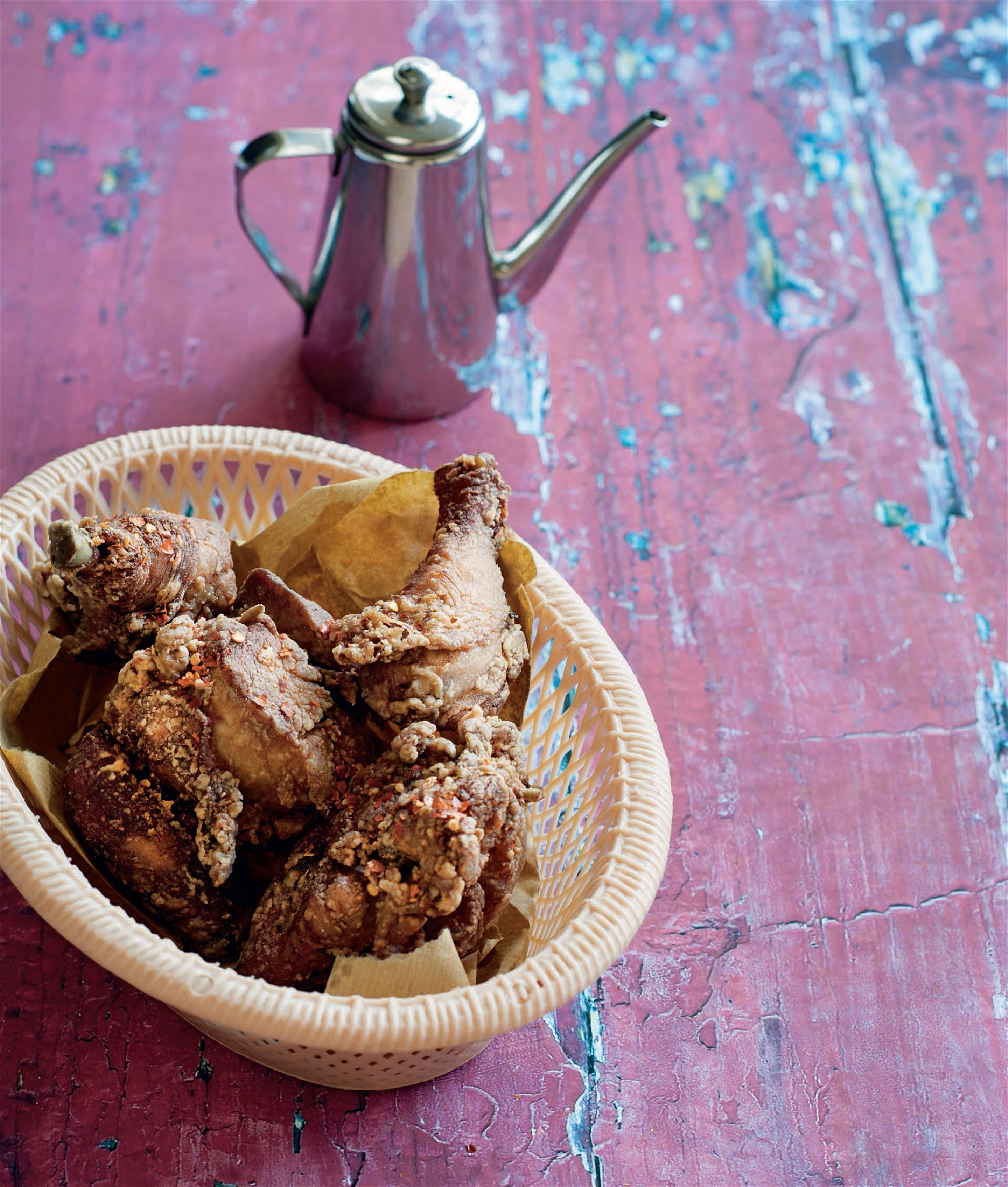 Deep-fried ginger and five-spice chicken