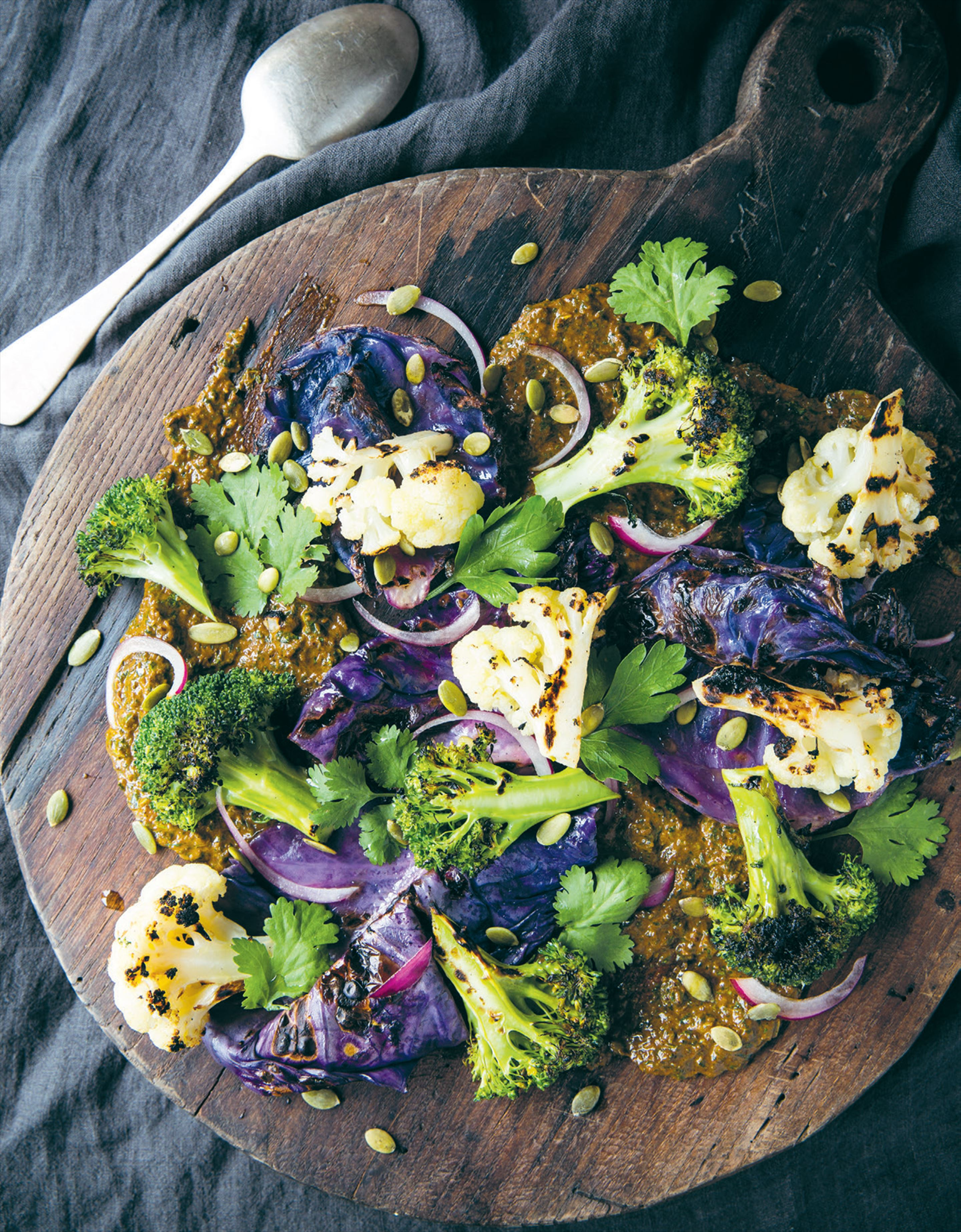 Chargrilled broccoli & cauliflower salad