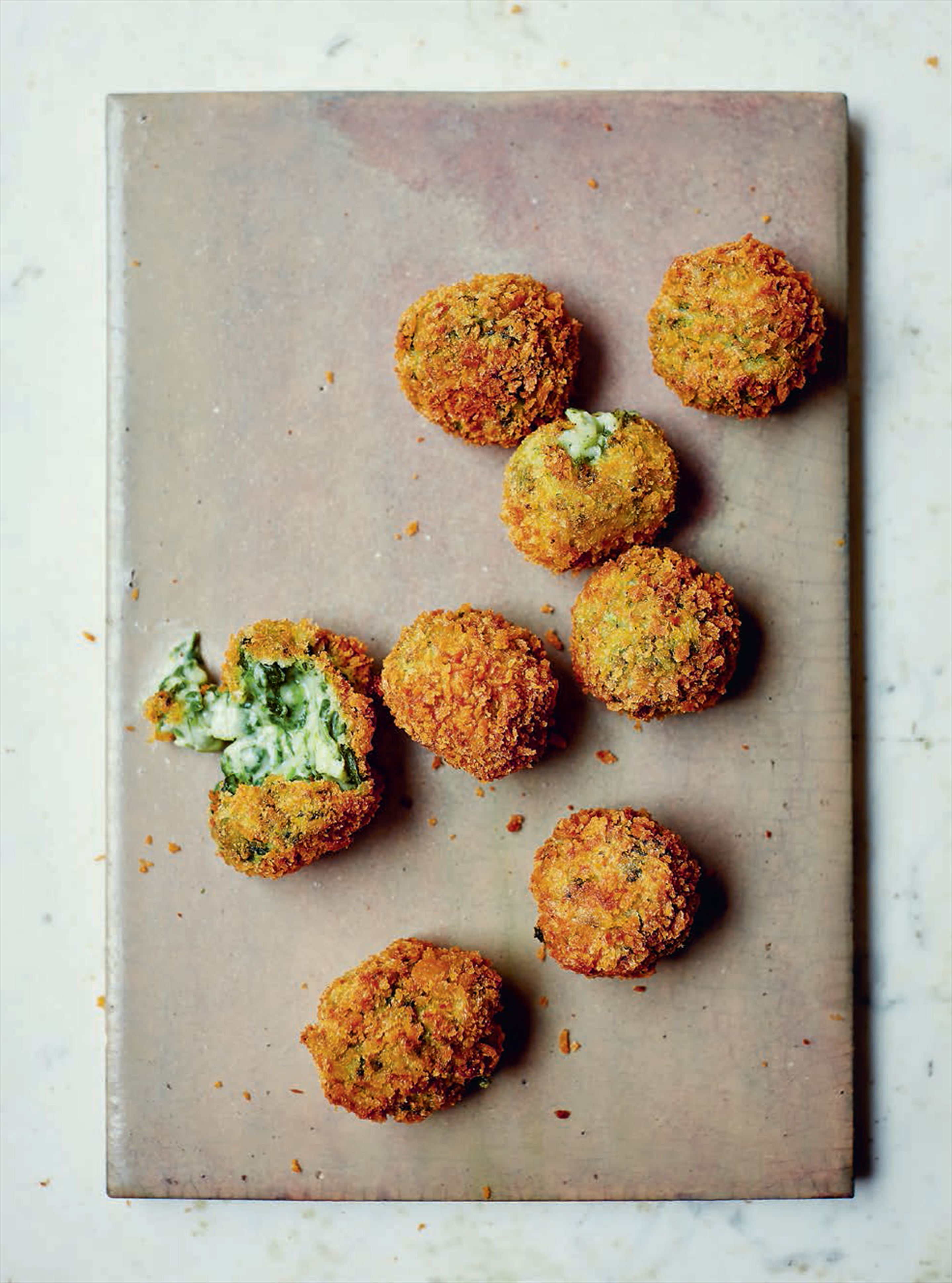 Spinach & goat's cheese croquetas