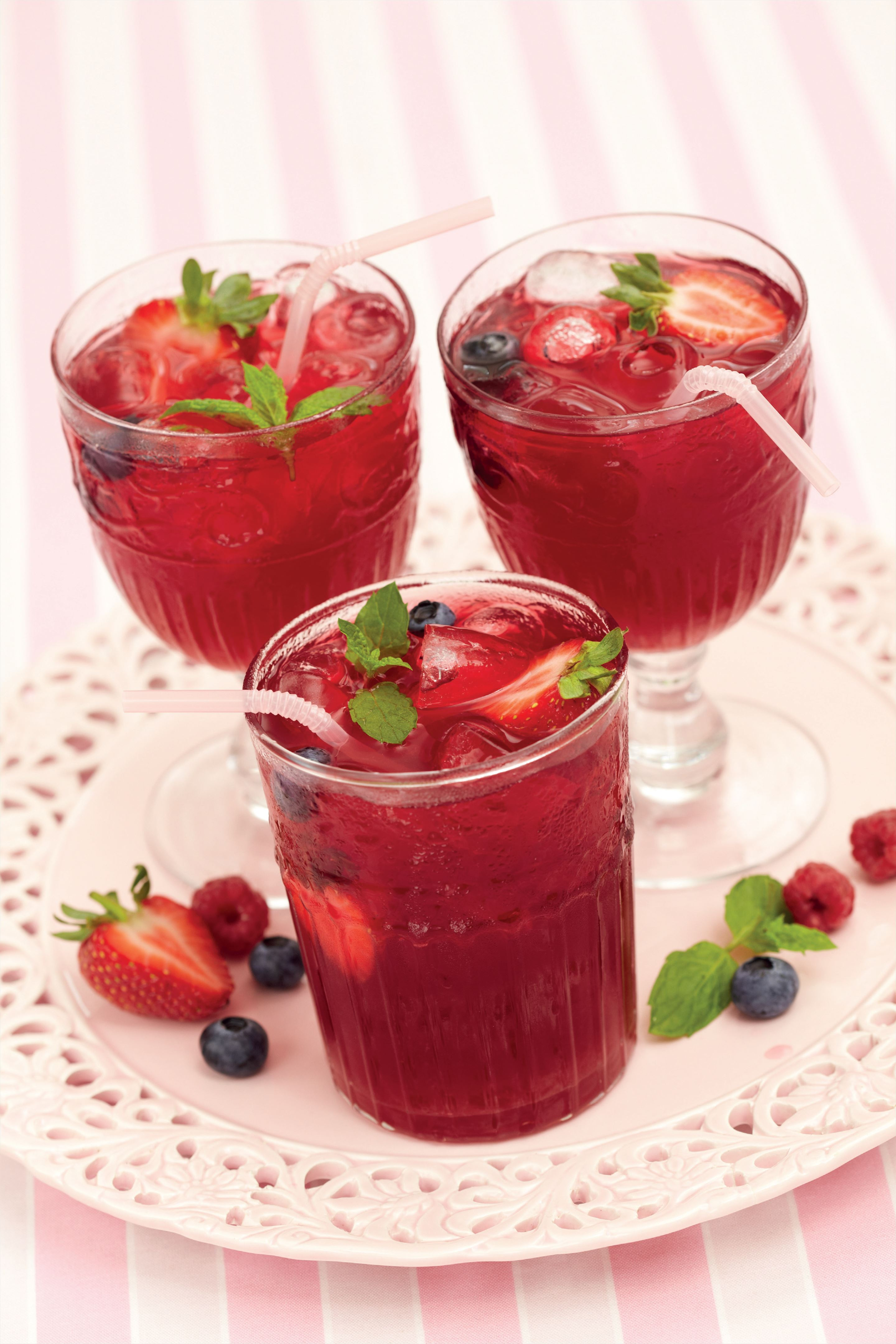 Summer berry ice tea