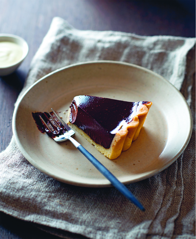 Jim's chocolate and olive oil tart