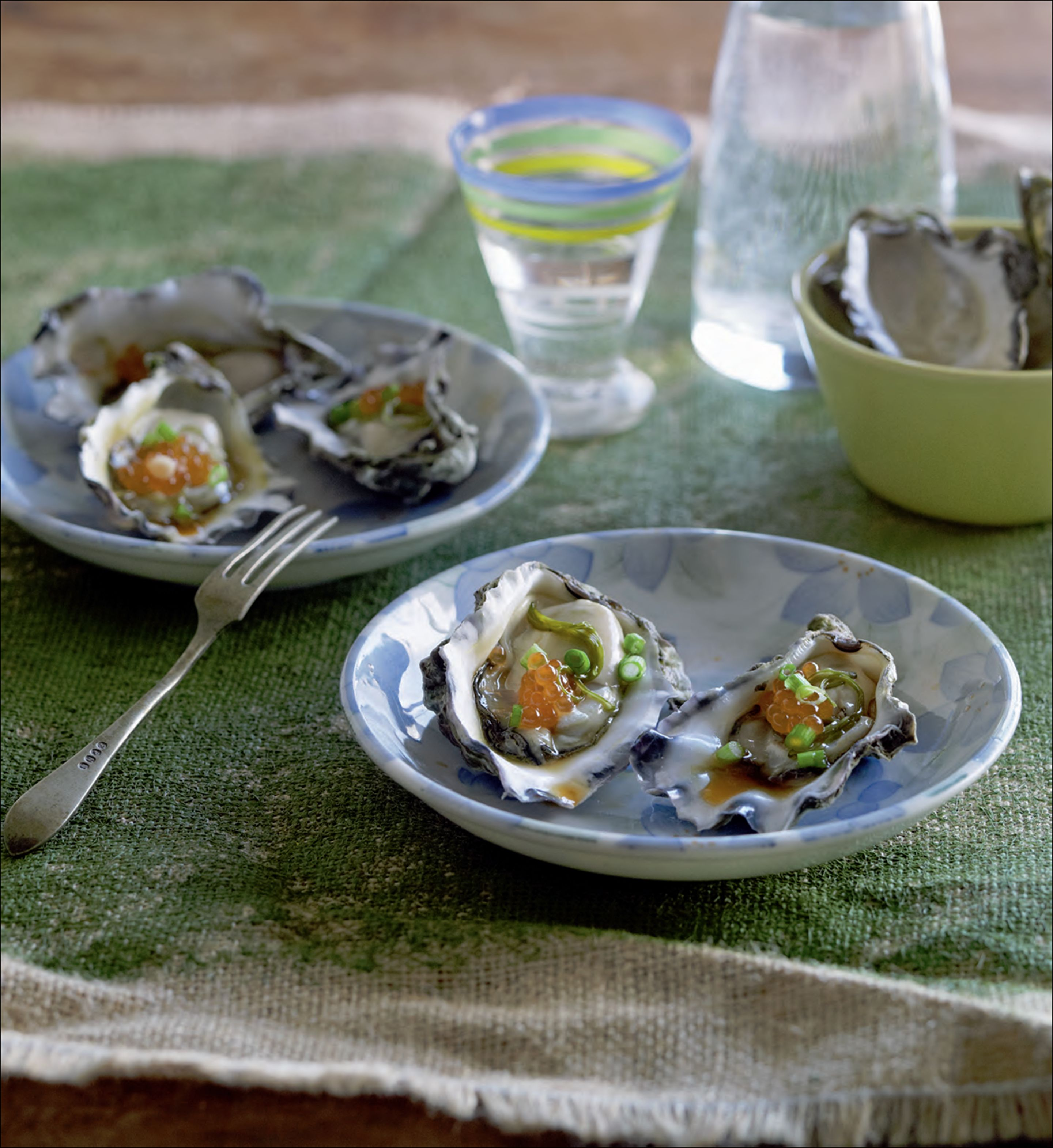 Oysters with Japanese dressing