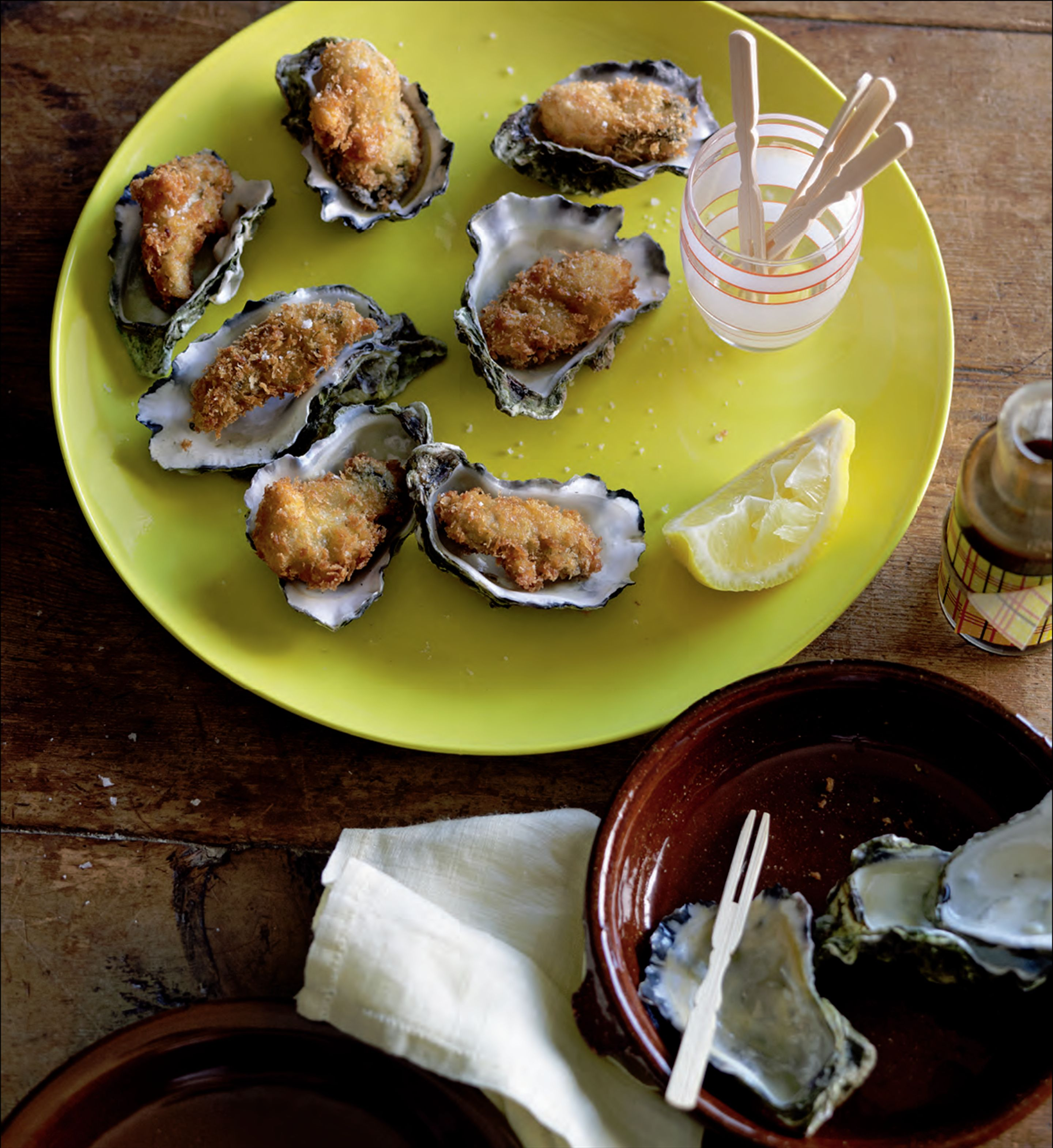 Deep-fried oysters with tonkatsu