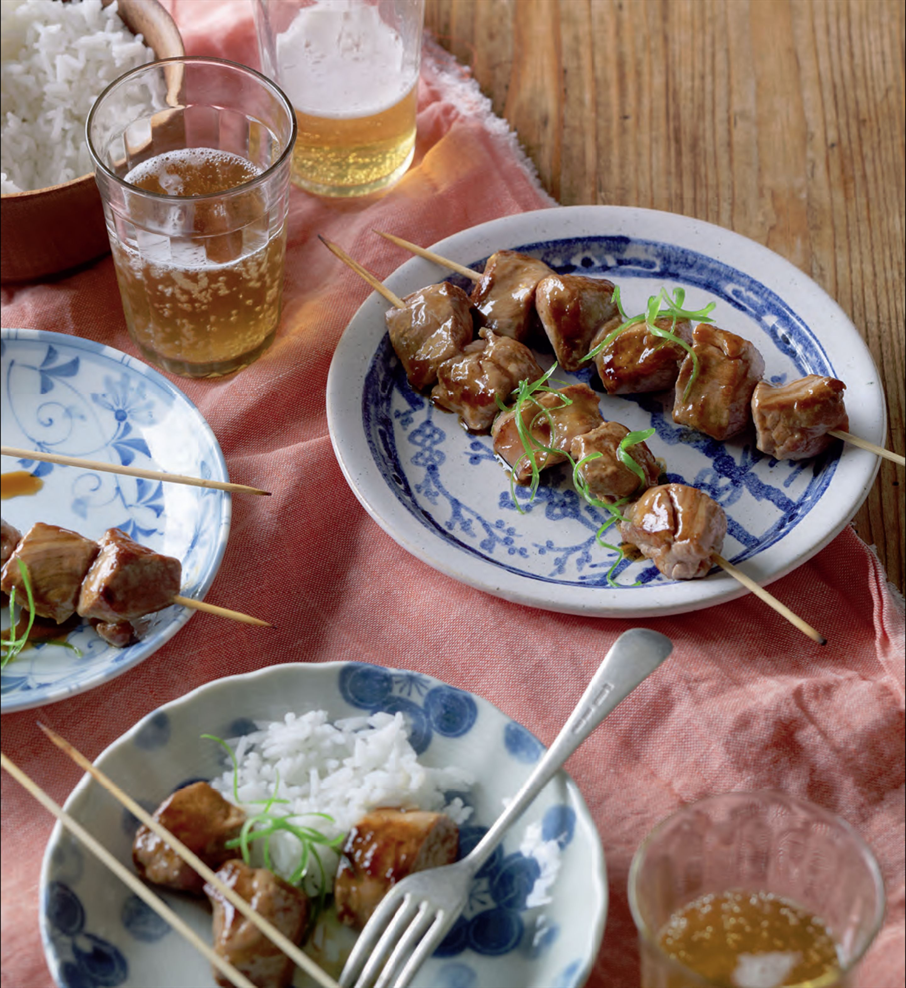 Pork skewers with umeboshi
