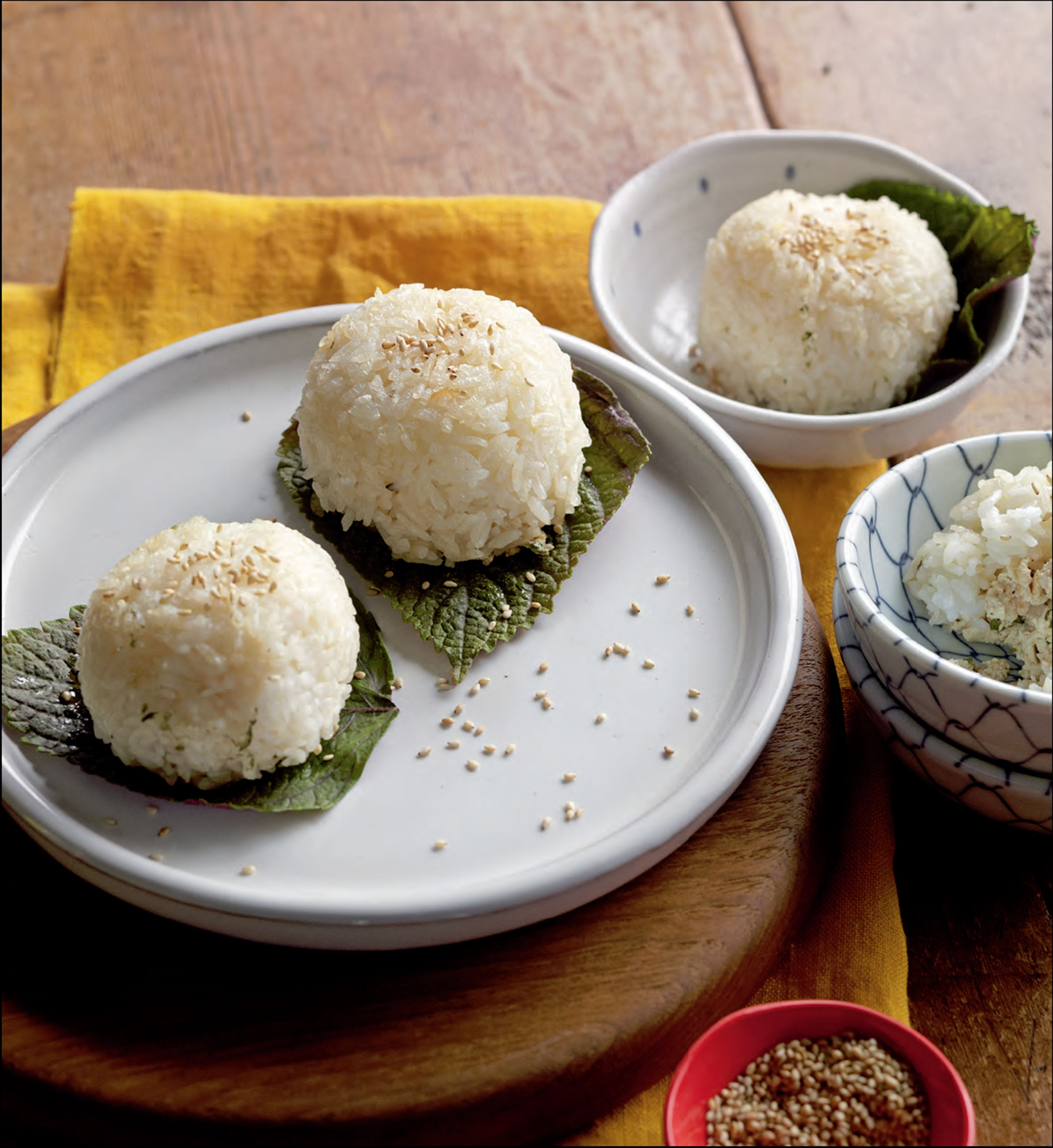 Onigiri with umeboshi and tofu