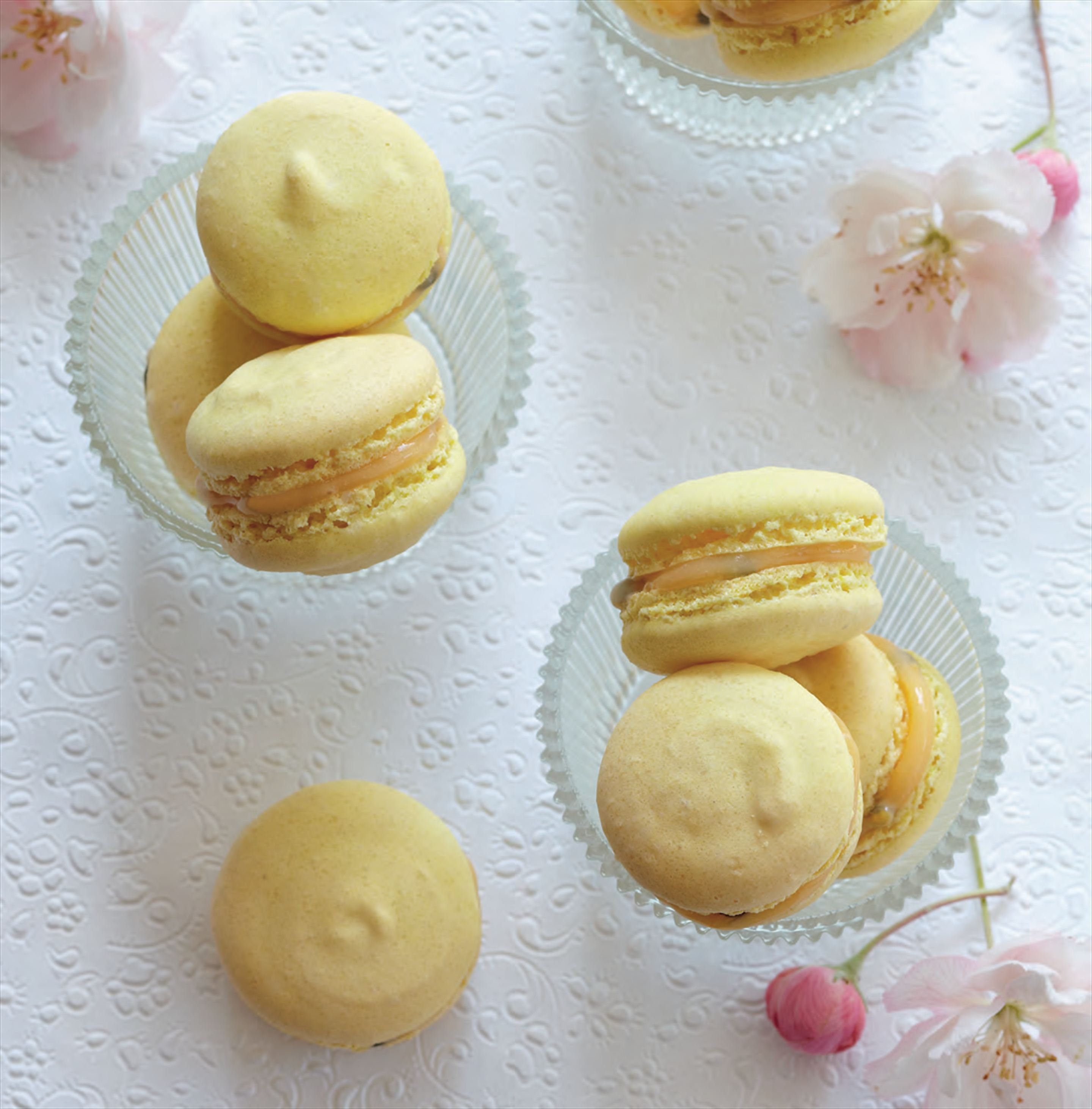 Passionfruit macarons