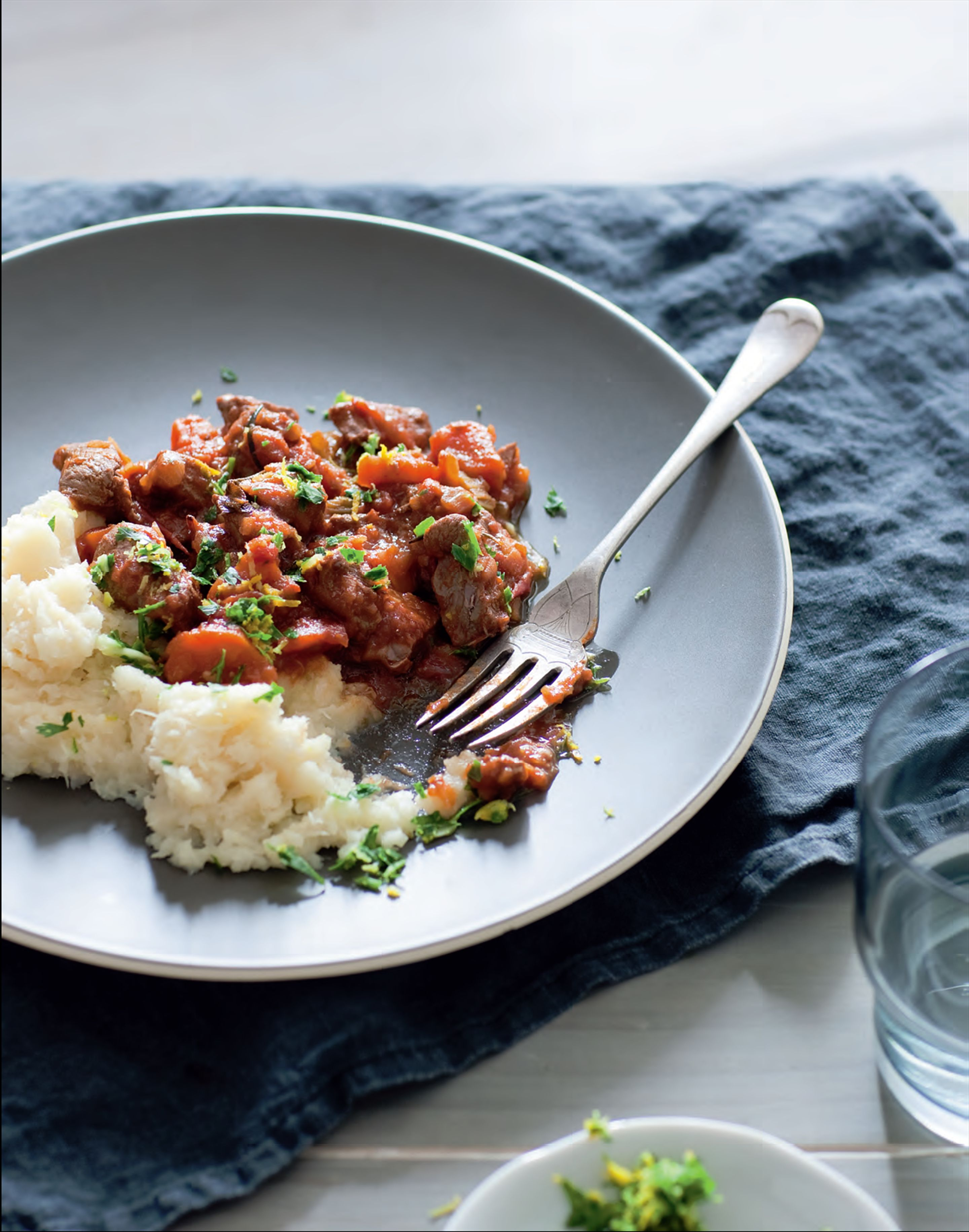 Lamb stew with gremolata