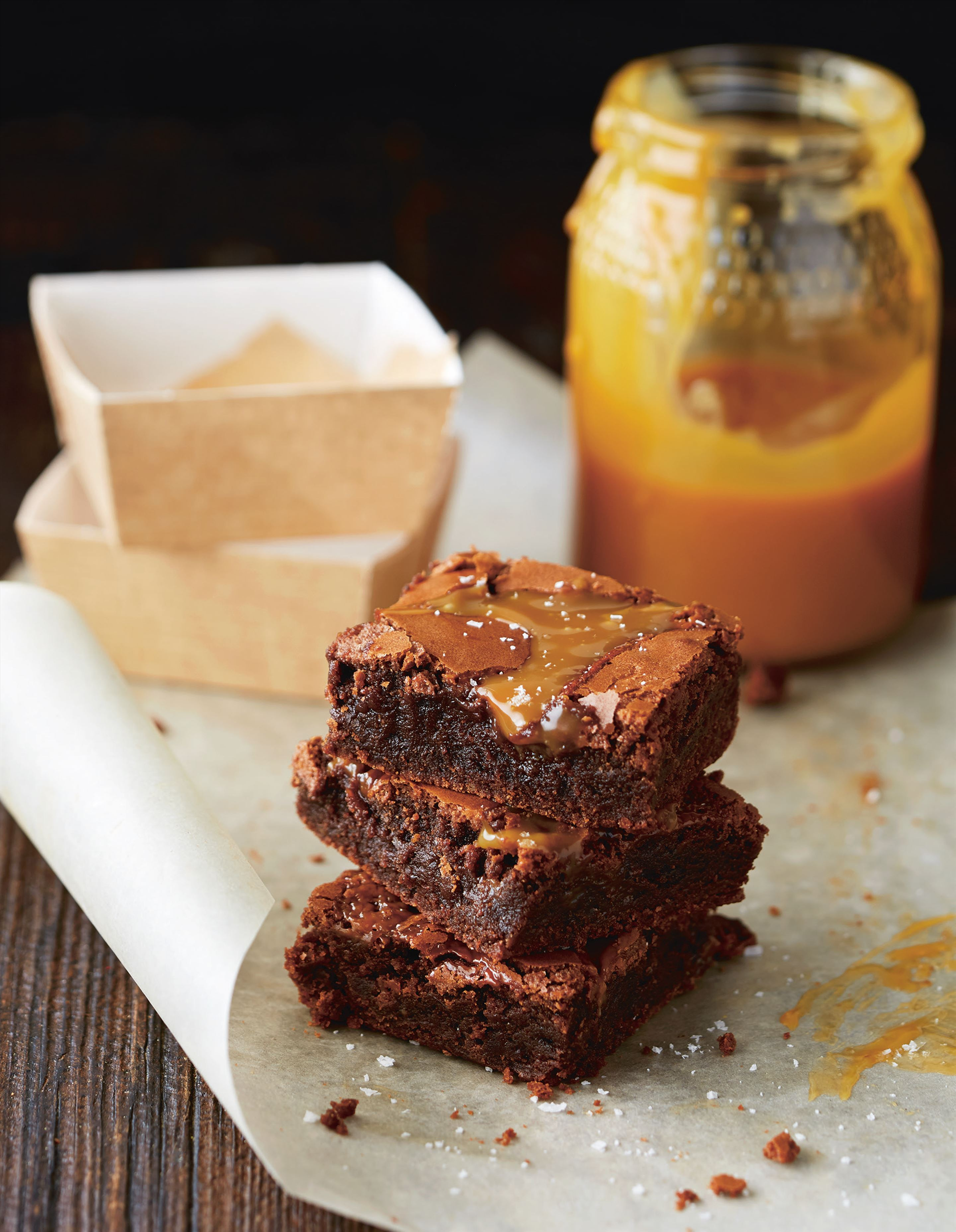 Brownies with salted caramel