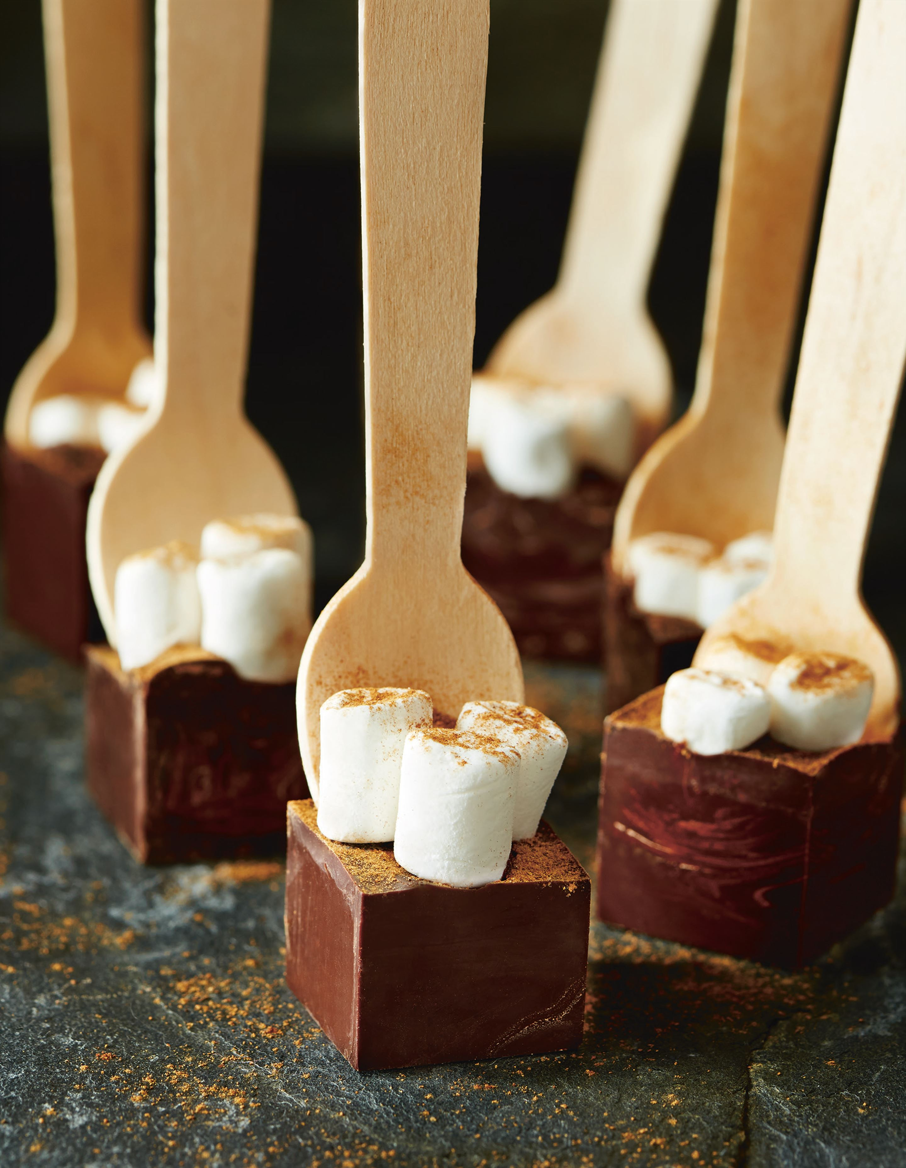 Cinnamon hot chocolate spoons