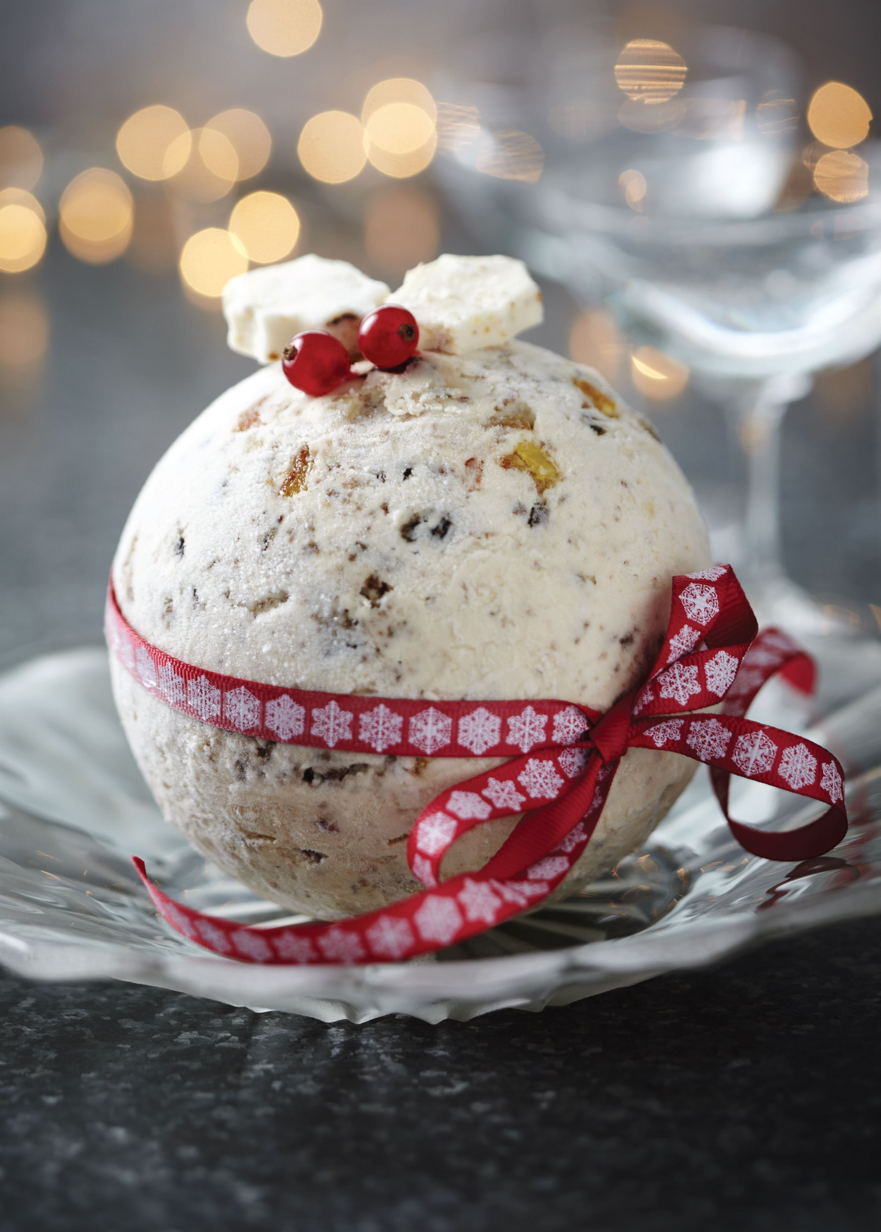 Christmas and marzipan ice cream