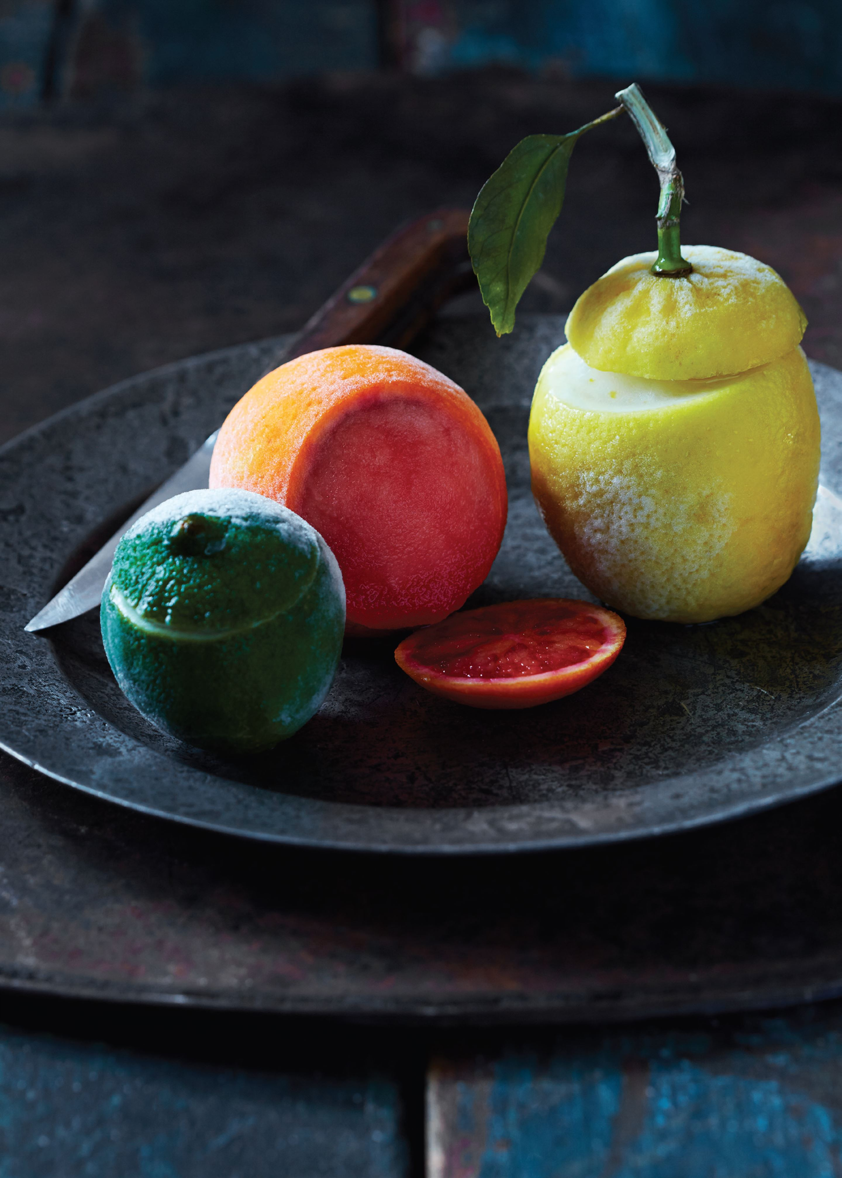 Blood orange sorbet