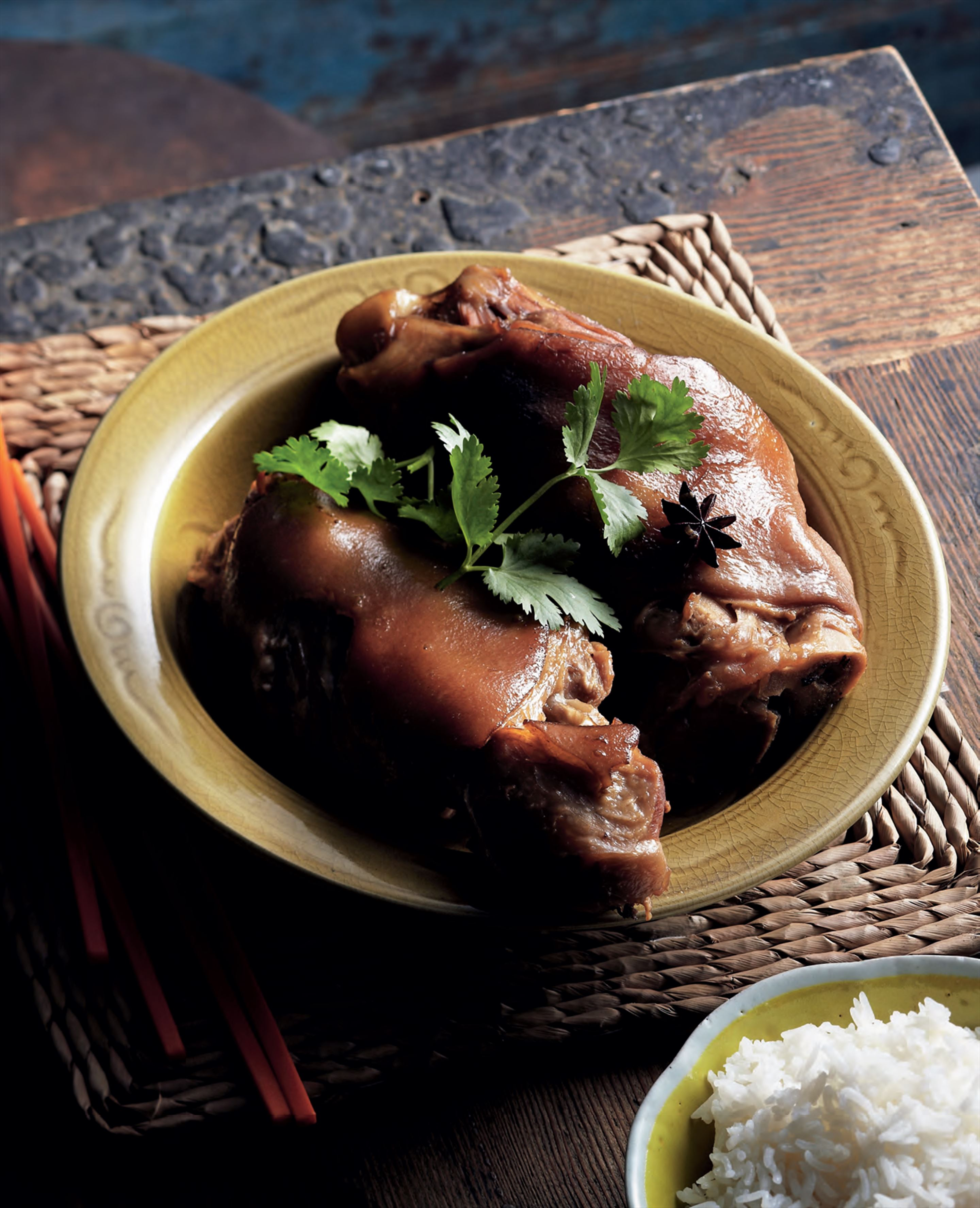 Slow-braised pork hocks